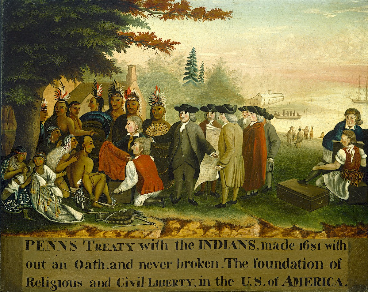 Penn S Treaty With The Indians By Edward Hicks
