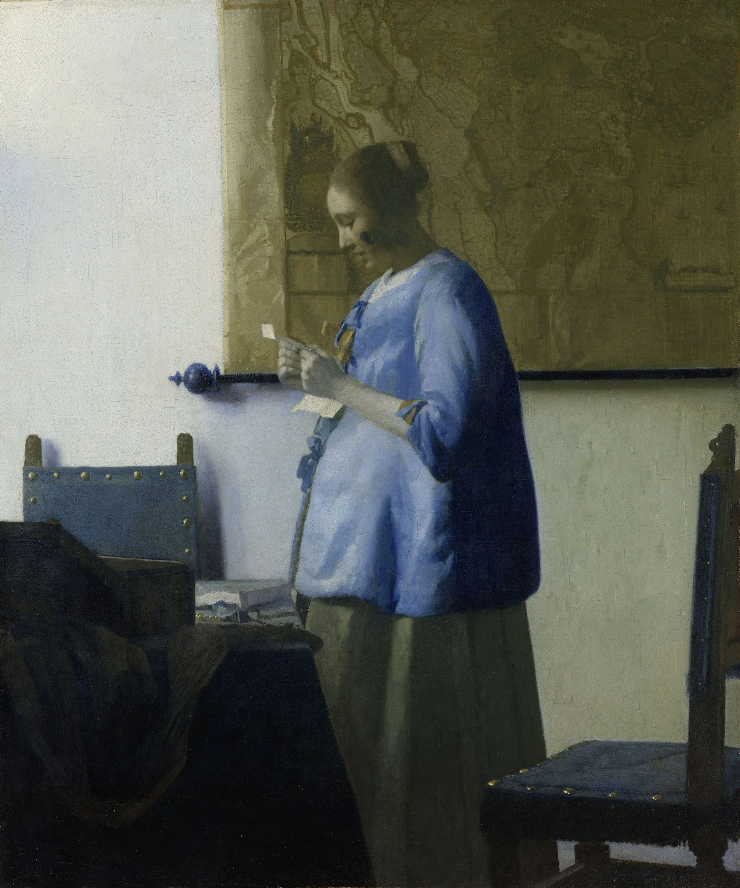 Woman Reading a Letter, 1663 — Johannes Vermeer,