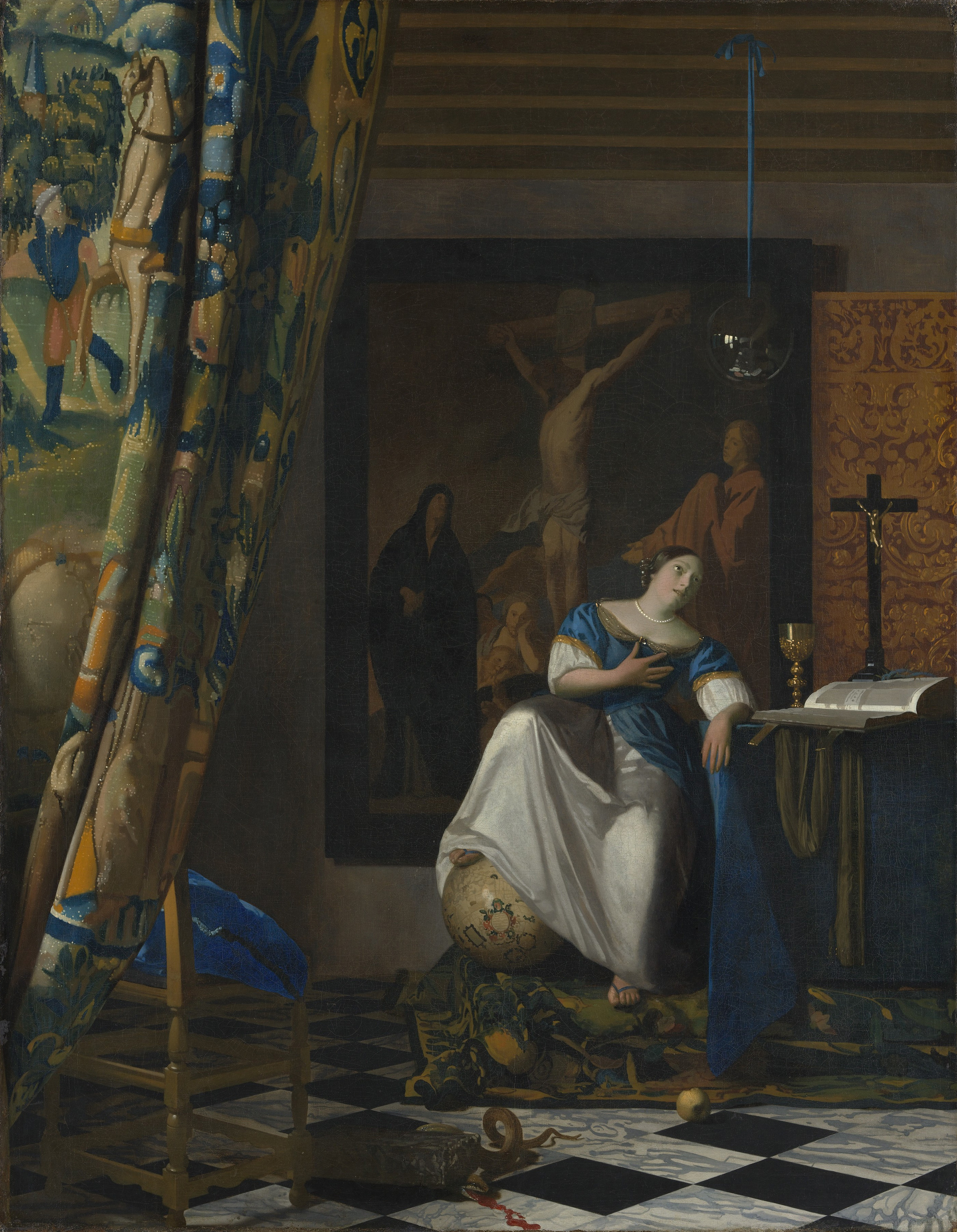 Allegory of the Catholic Faith, 1672 — Johannes Vermeer,