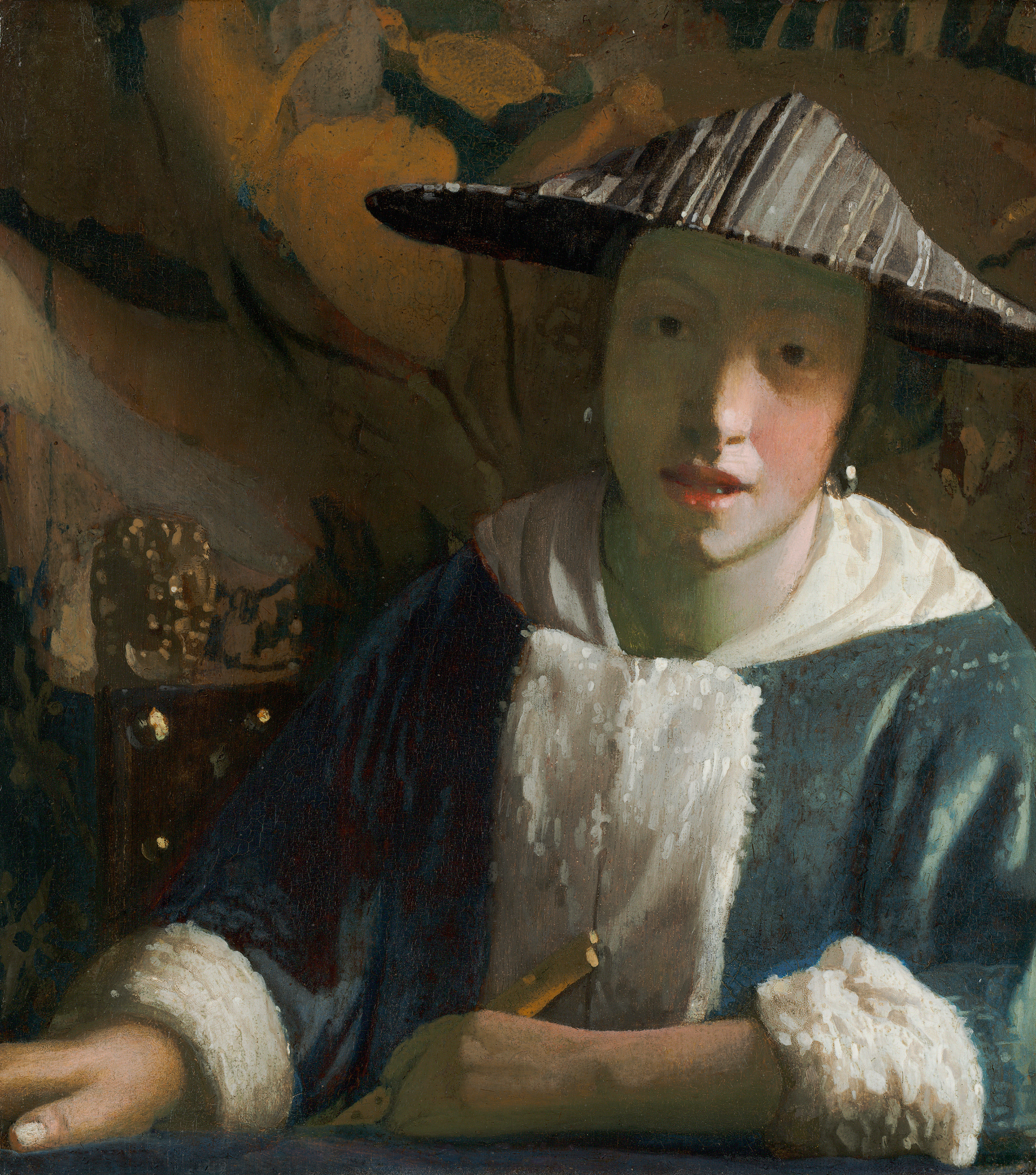 Girl with a Flute, 1665 — Johannes Vermeer, National Gallery of Art