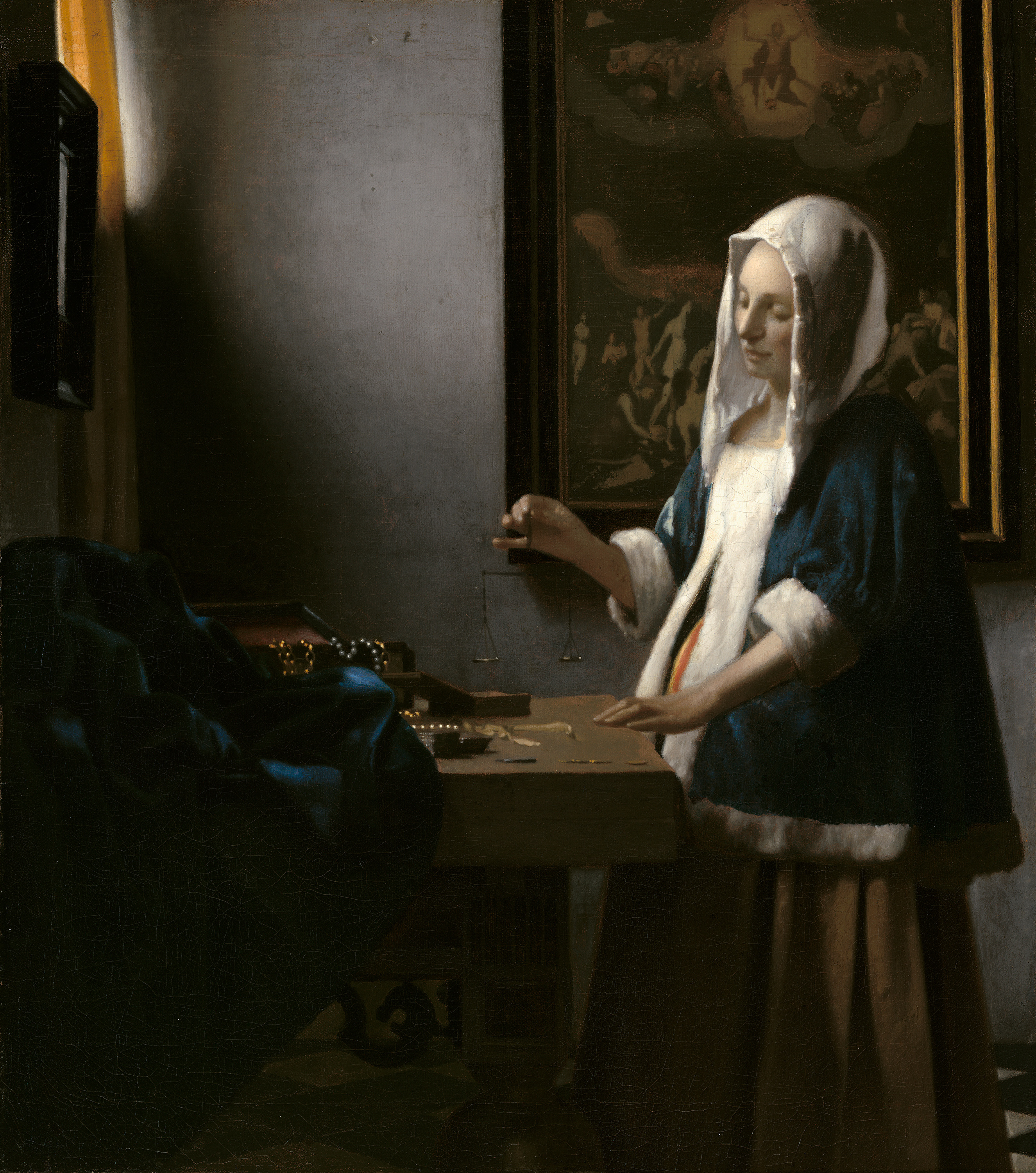 Woman Holding a Balance, 1663 — Johannes Vermeer, National Gallery of Art
