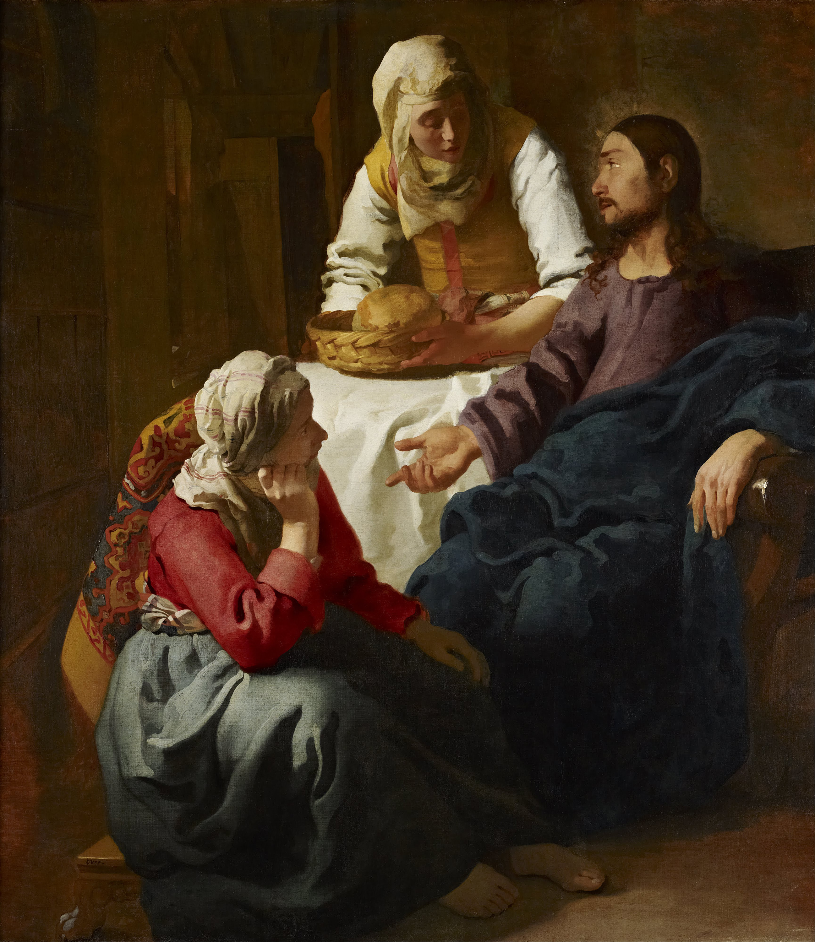 Christ in the House of Martha and Mary, 1656 — Johannes Vermeer, Scottish National Gallery