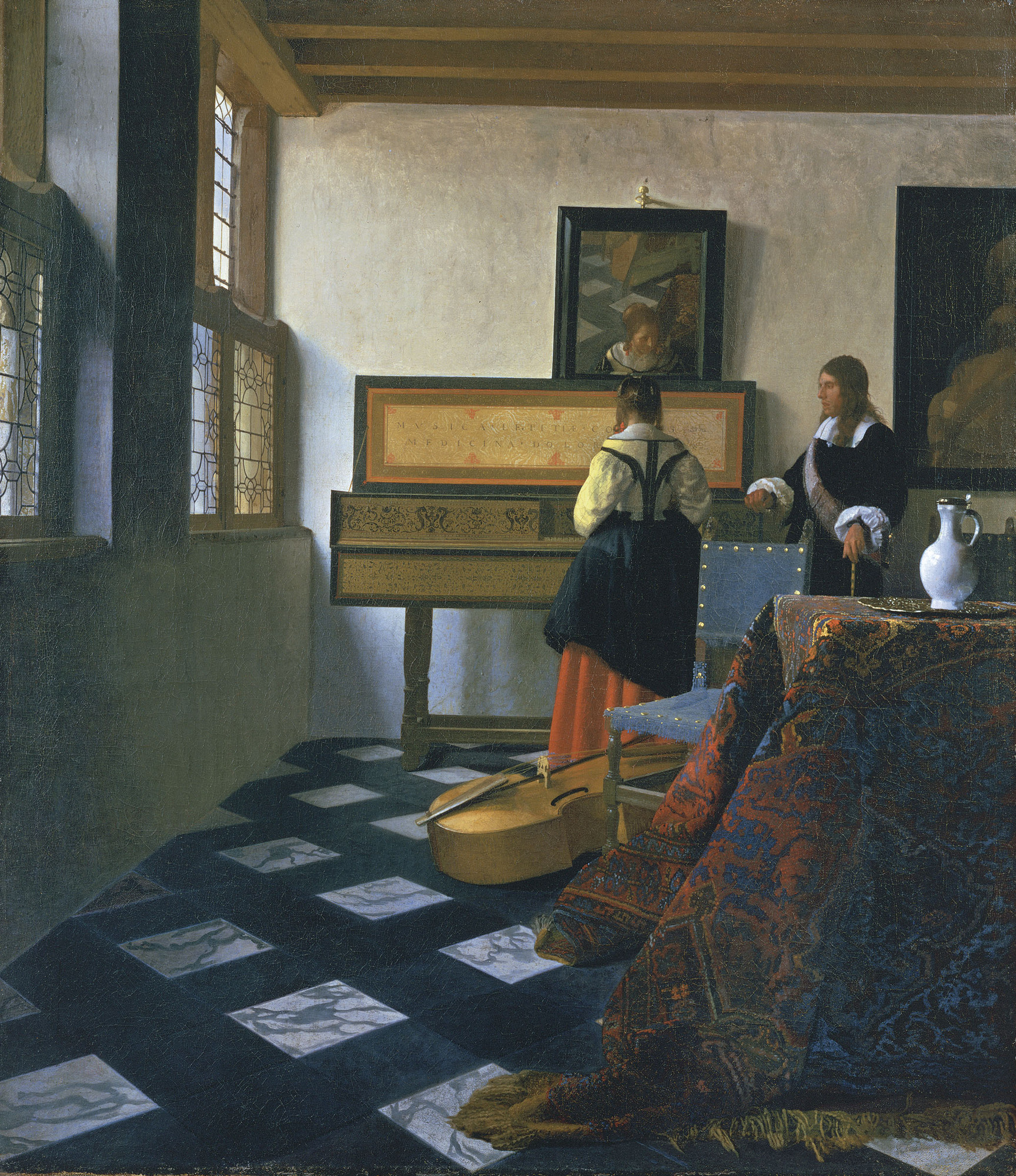 Lady at the Virginals with a Gentleman, 1660 — Johannes Vermeer
