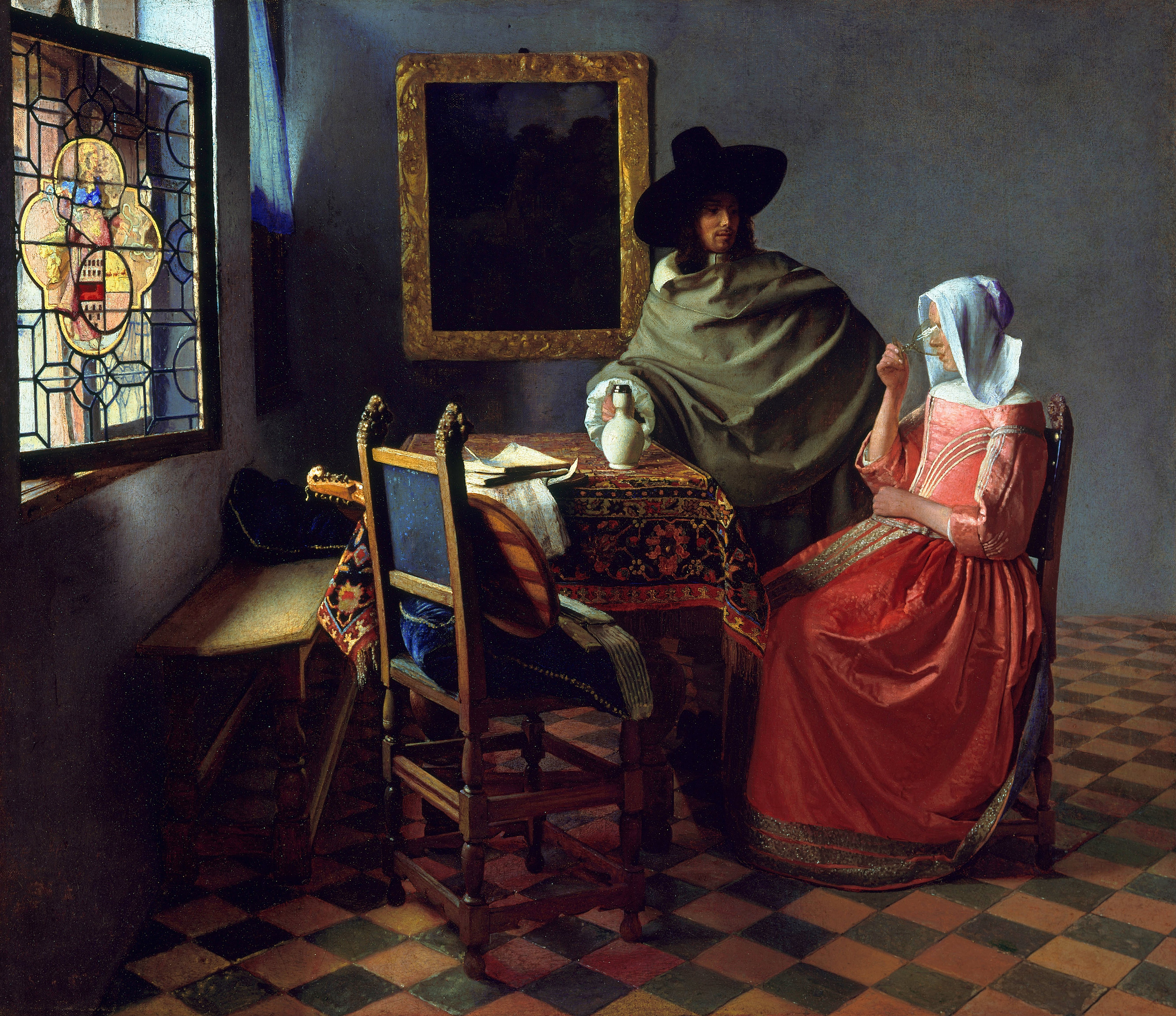The Glass of Wine, 1661 — Johannes Vermeer,