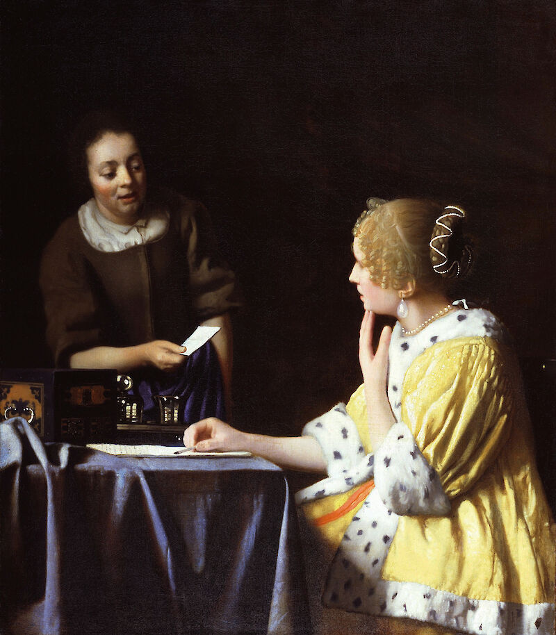 Mistress and Maid, 1667, Johannes Vermeer