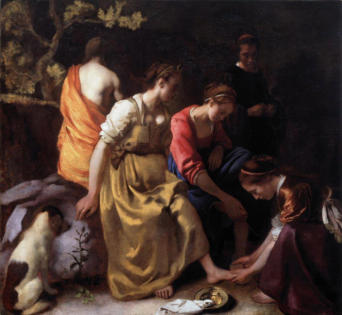 Diana and her Companions, 1654 — Johannes Vermeer, Mauritshuis
