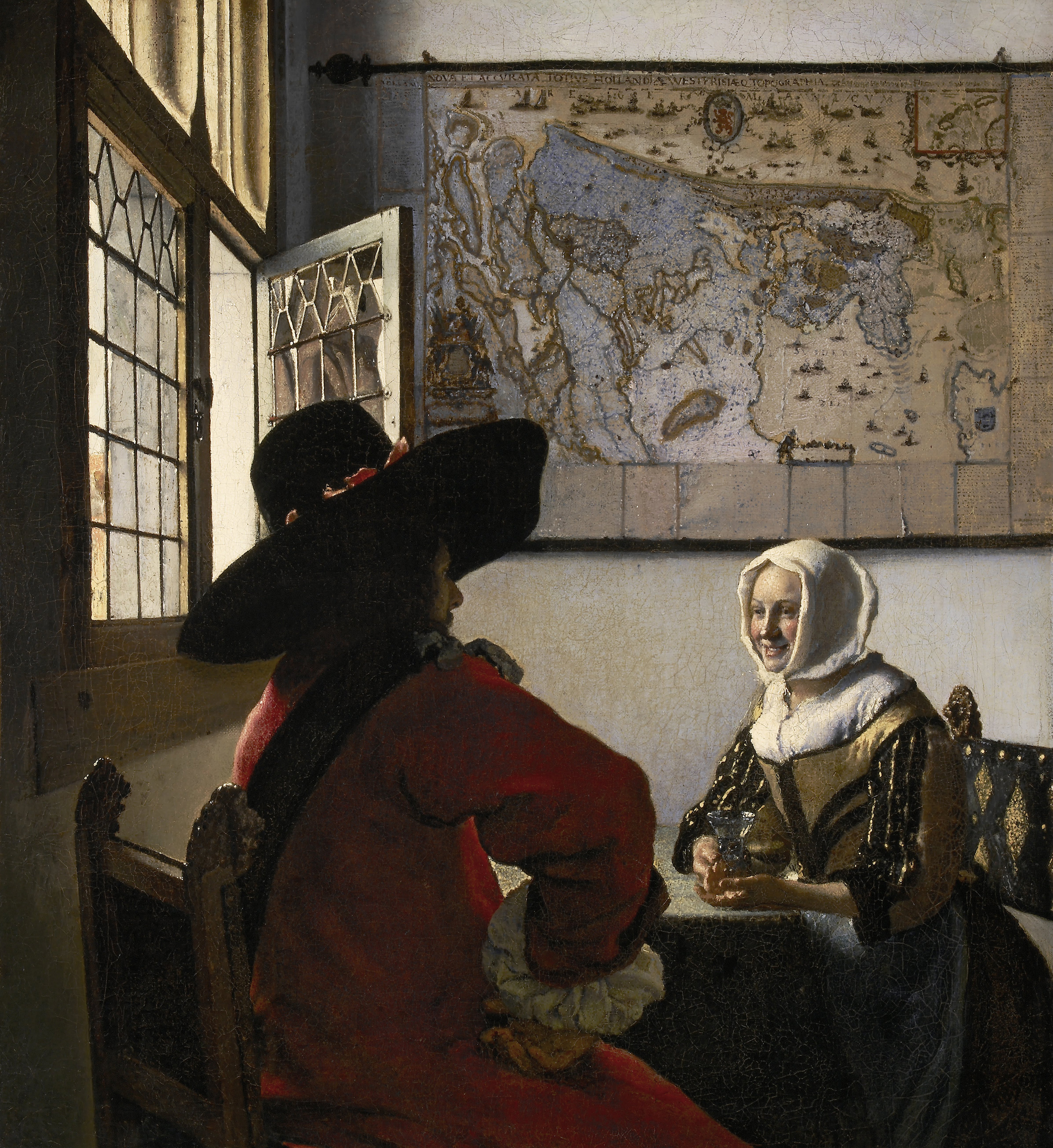 Officer and Laughing Girl, 1657 — Johannes Vermeer, The Frick Collection