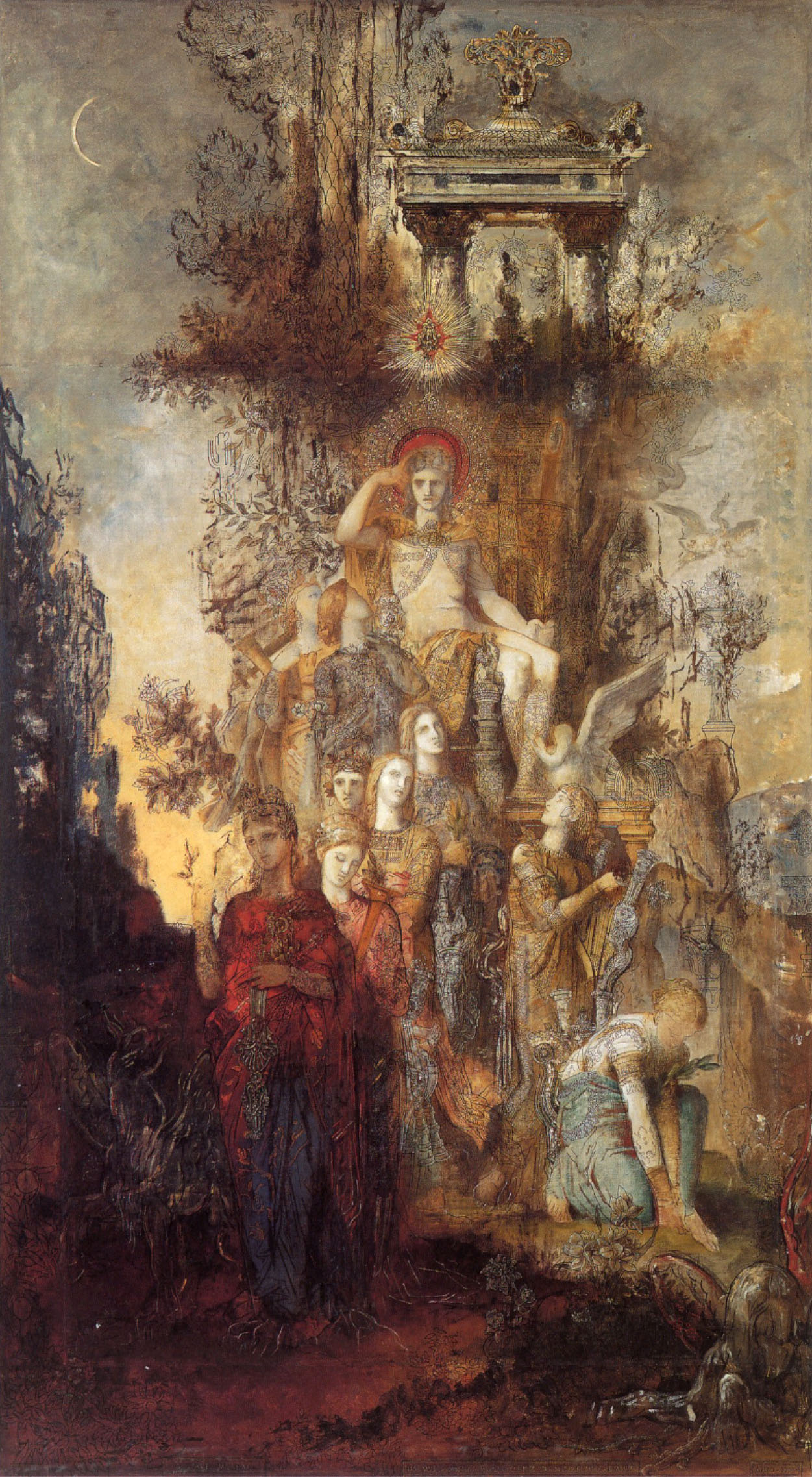 The Muses Leaving Their Father Apollo, 1868 — Gustave Moreau