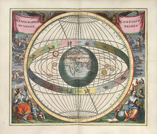 Harmonia Macrocosmica Plate 7 — Brahe's Construction of the World