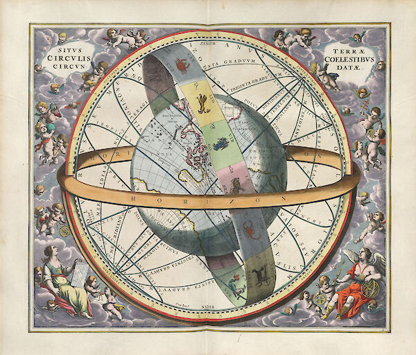 Harmonia Macrocosmica Plate 11 — The Location of the Earth