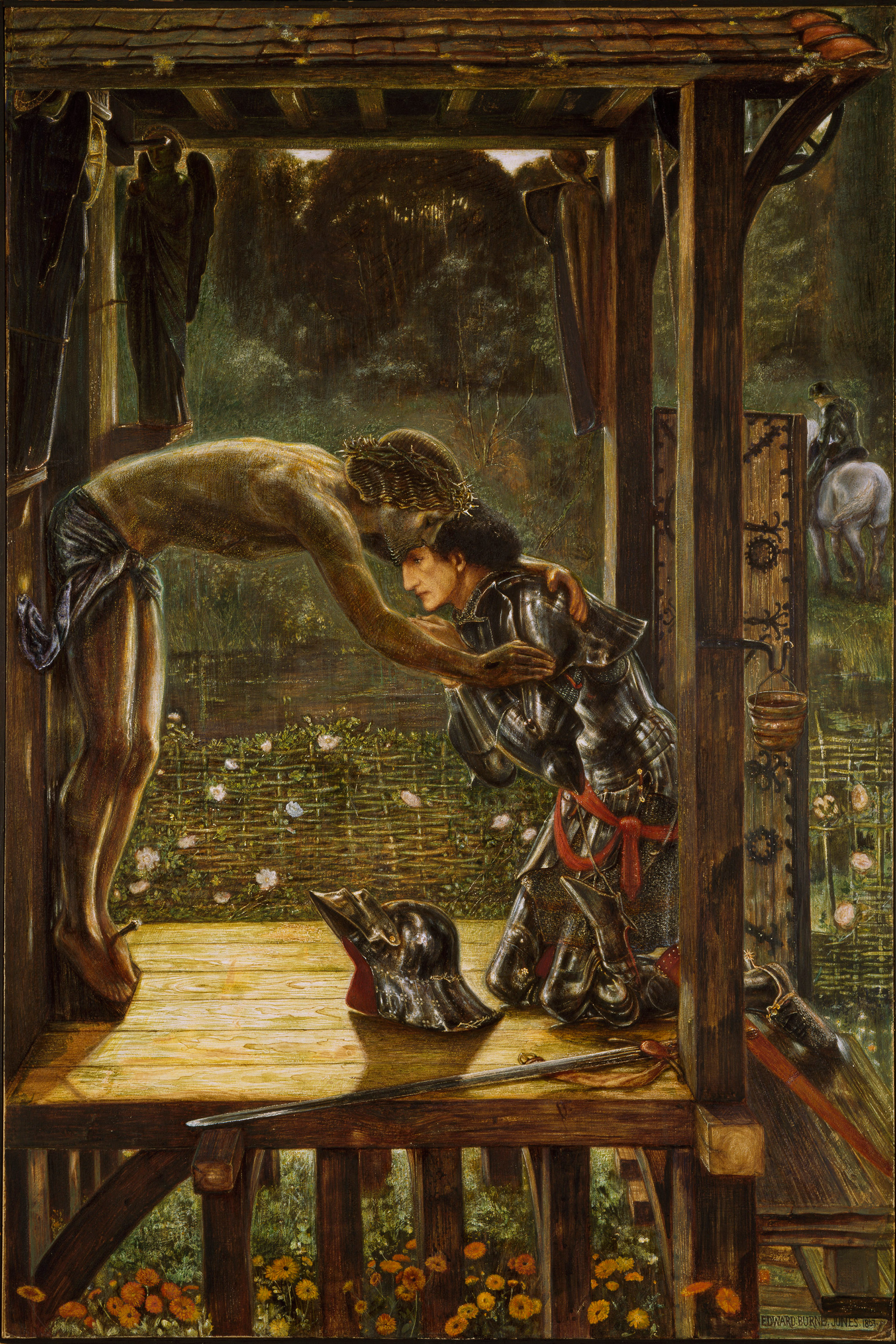 The Merciful Knight, 1863 — Edward Burne-Jones