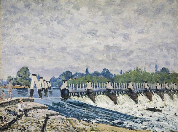 Molesey Weir, Hampton Court