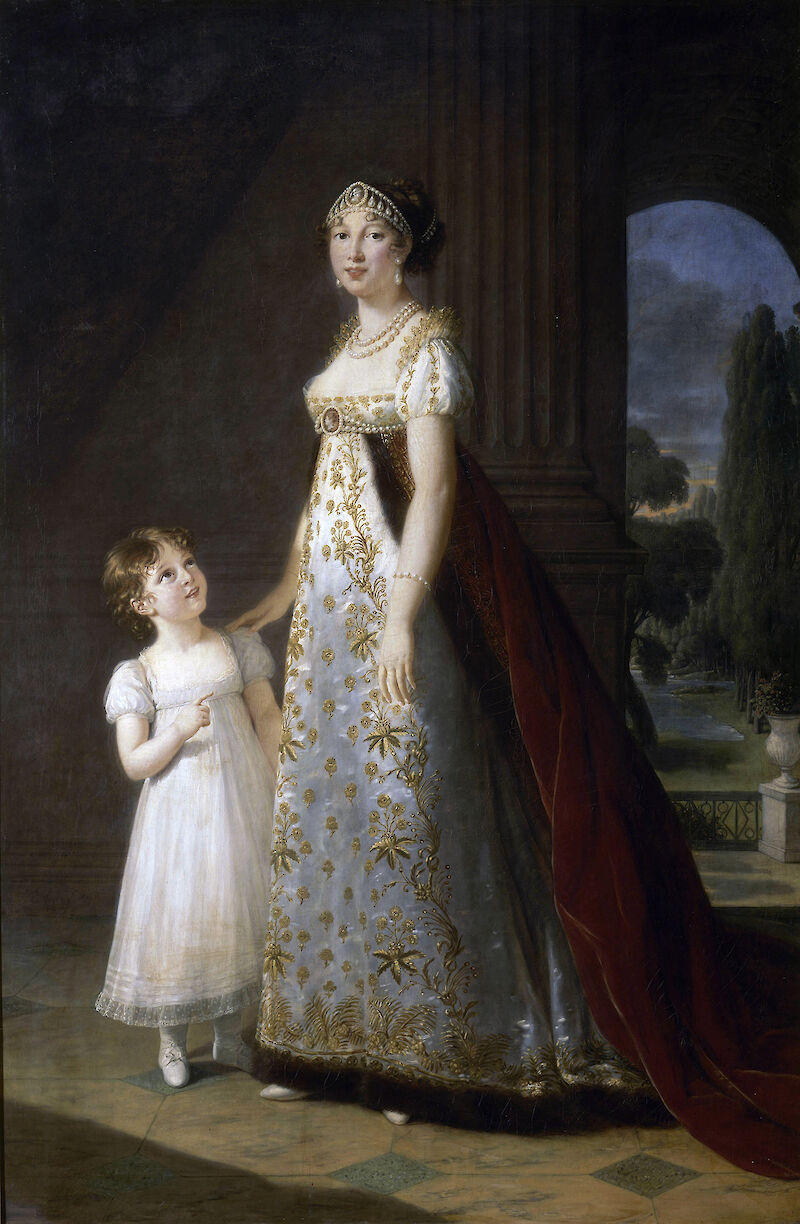 Portrait of Caroline Murat with her daughter, Letizia