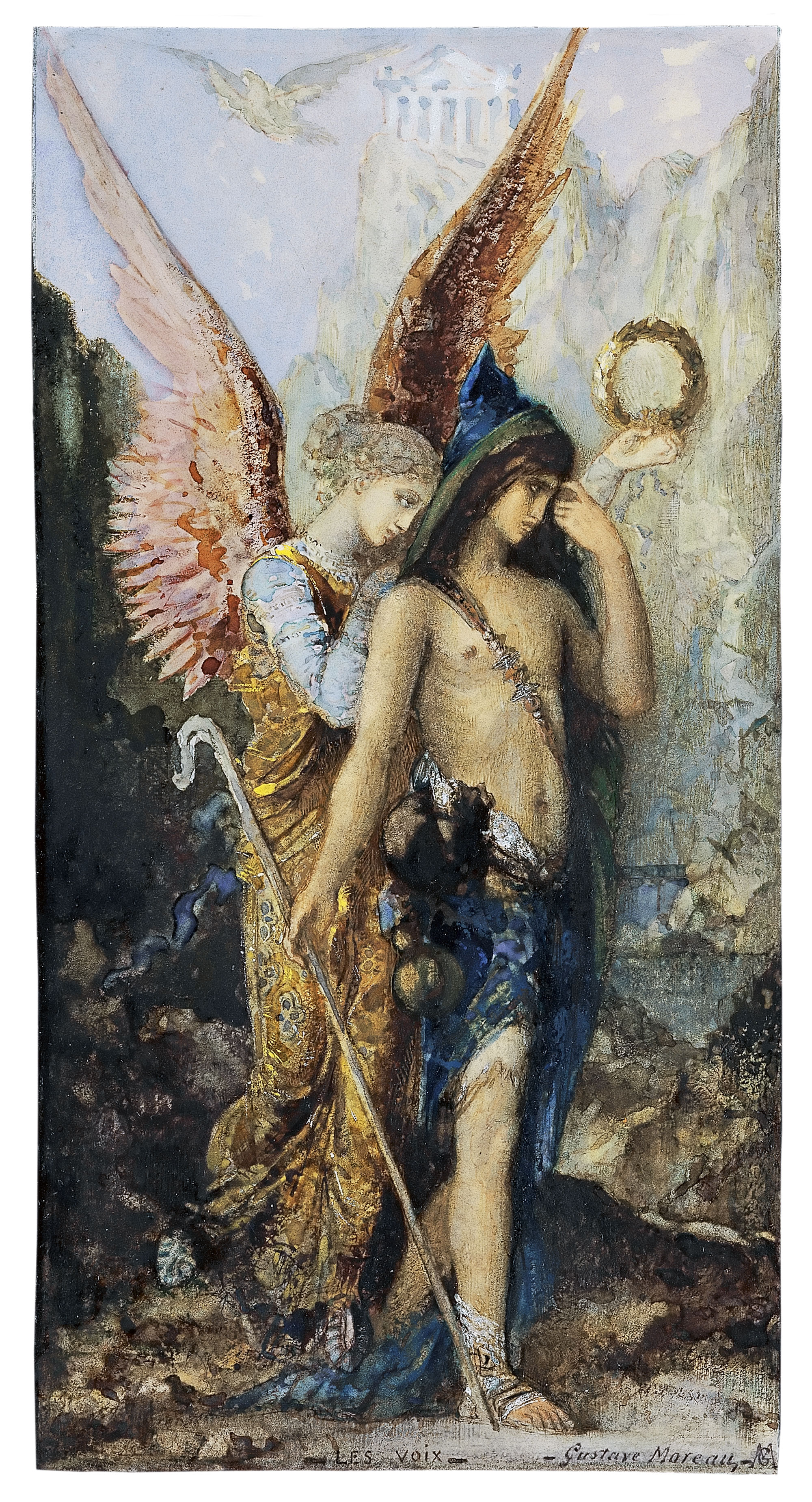 The Voices, 1867 — Gustave Moreau,