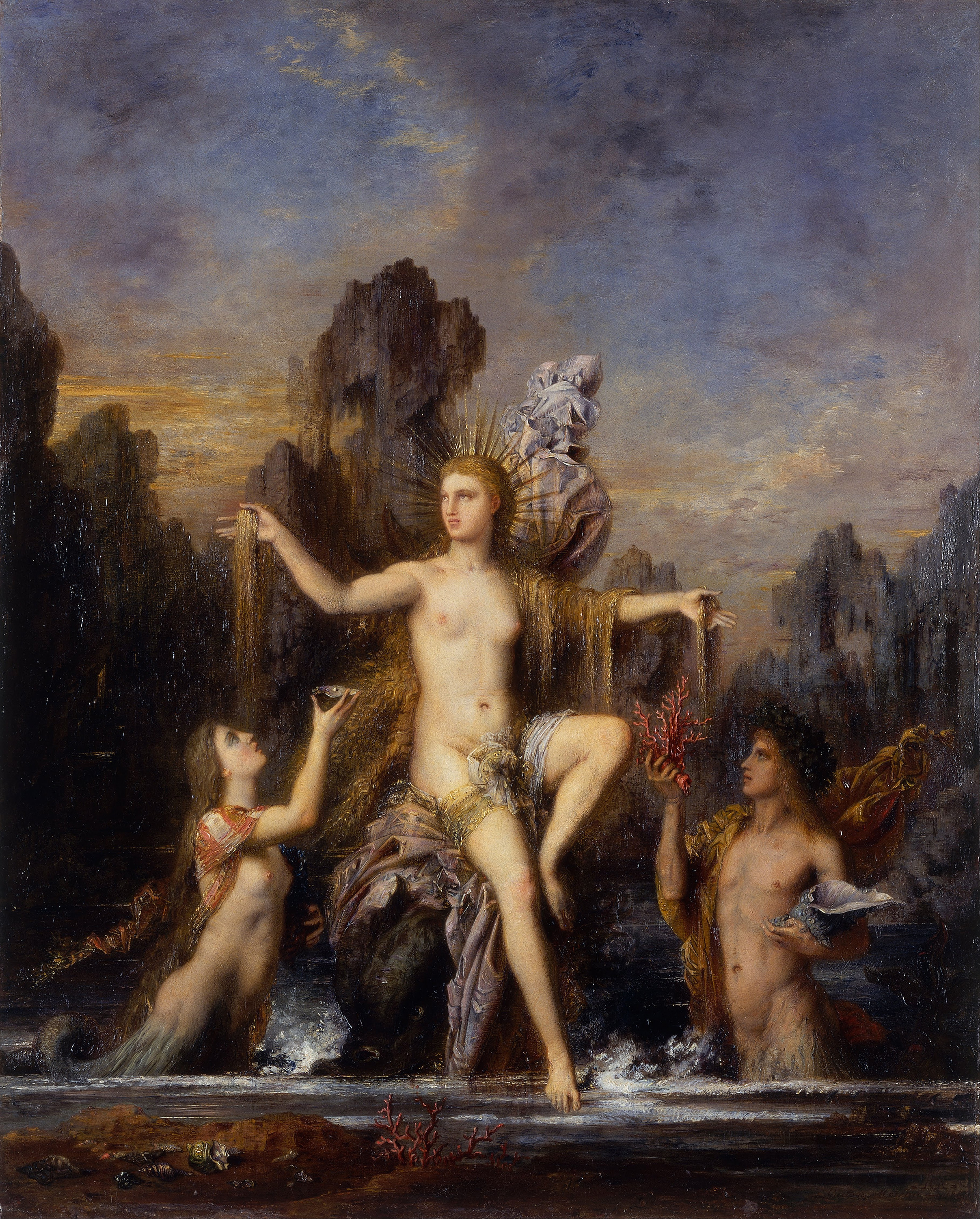 Venus Rising from the Sea, 1866 — Gustave Moreau