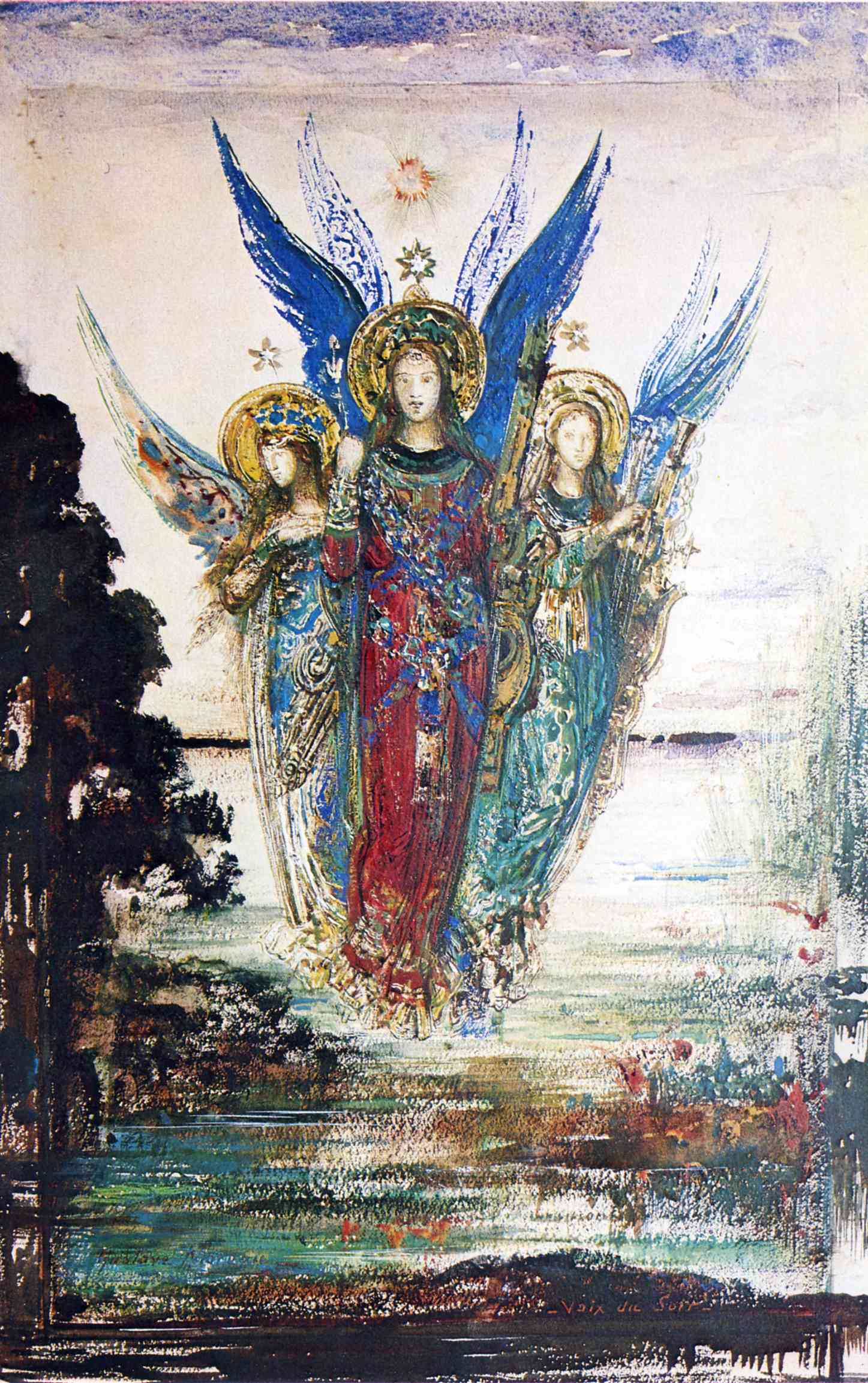 Voices Of Evening, 1885 — Gustave Moreau,