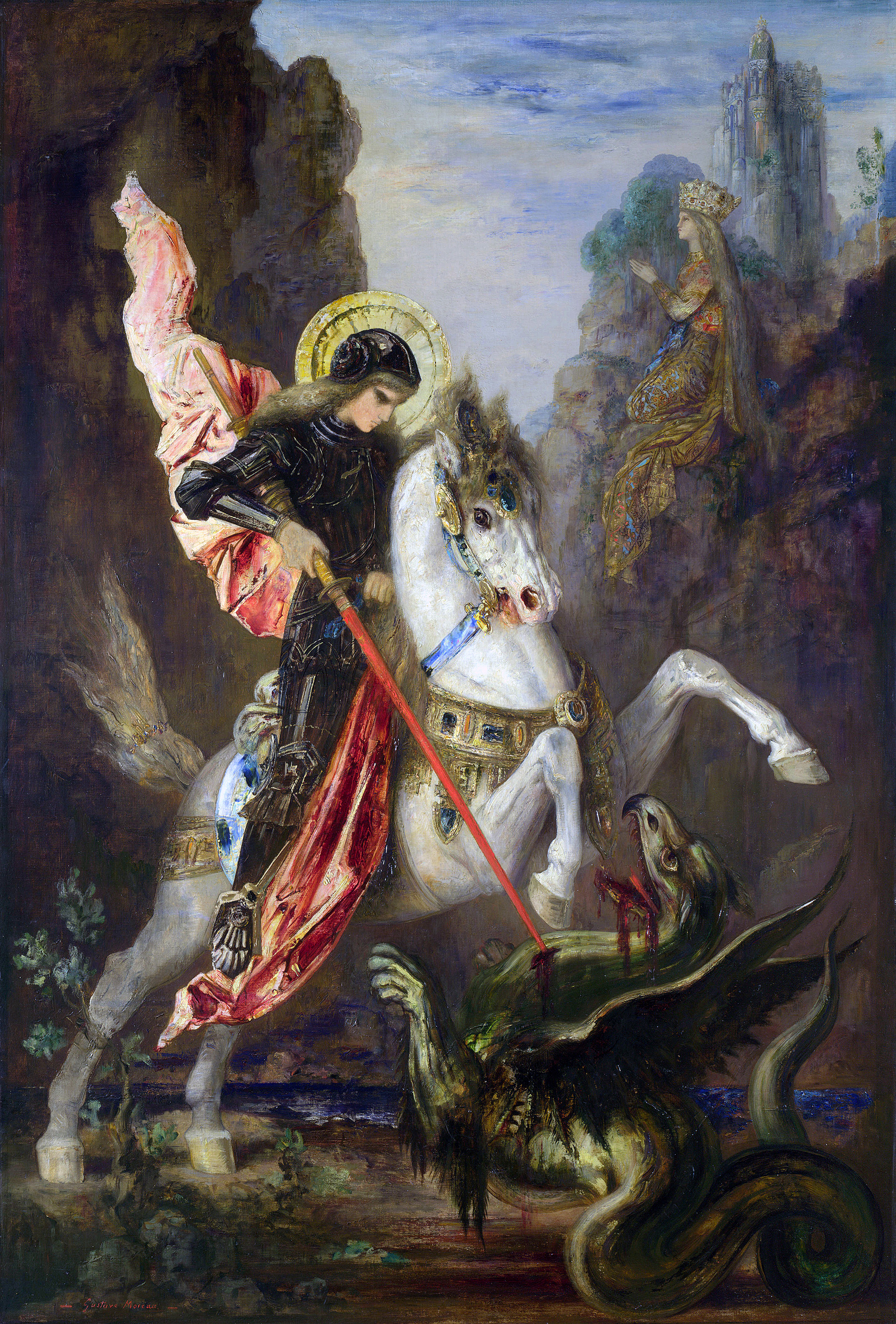 Saint George and the Dragon, 1890 — Gustave Moreau,