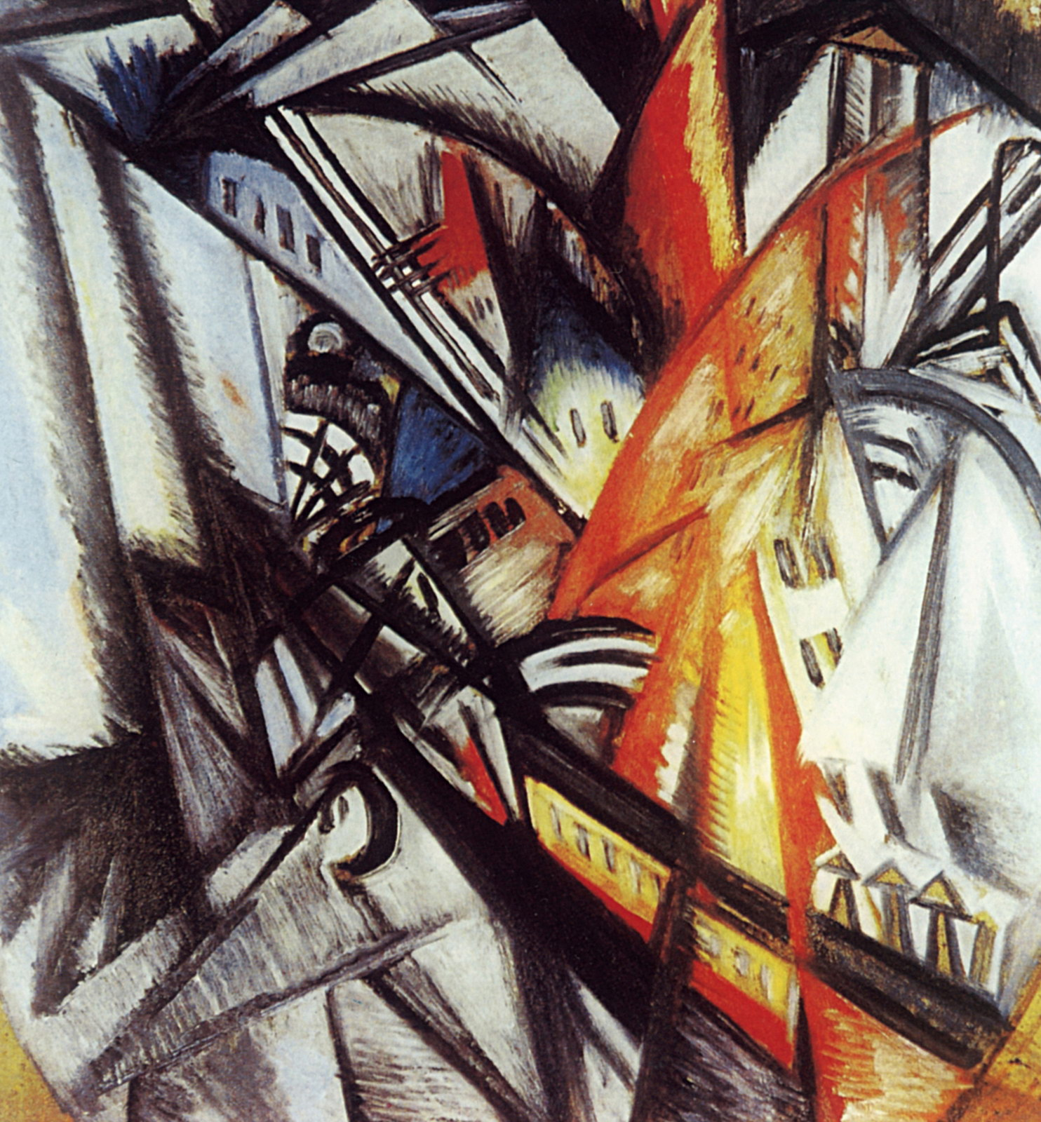 City On Fire, 1914 — Olga Rozanova,
