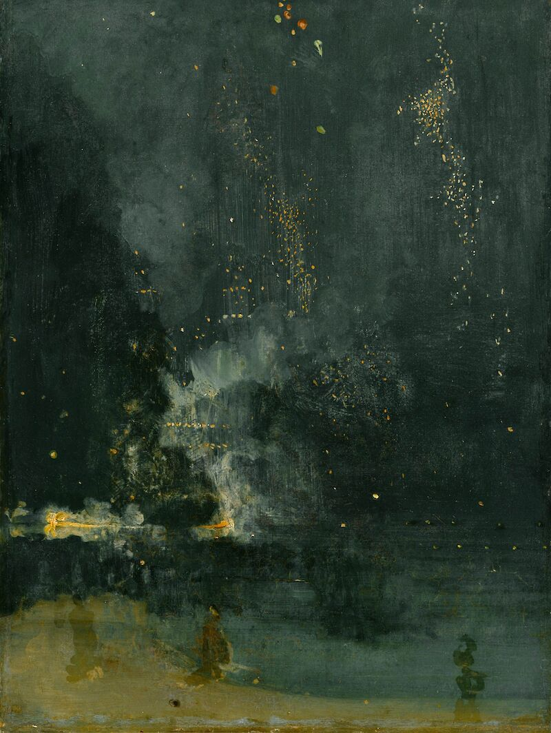Nocturne in Black and Gold: The Falling Rocket, 1875, James McNeill Whistler