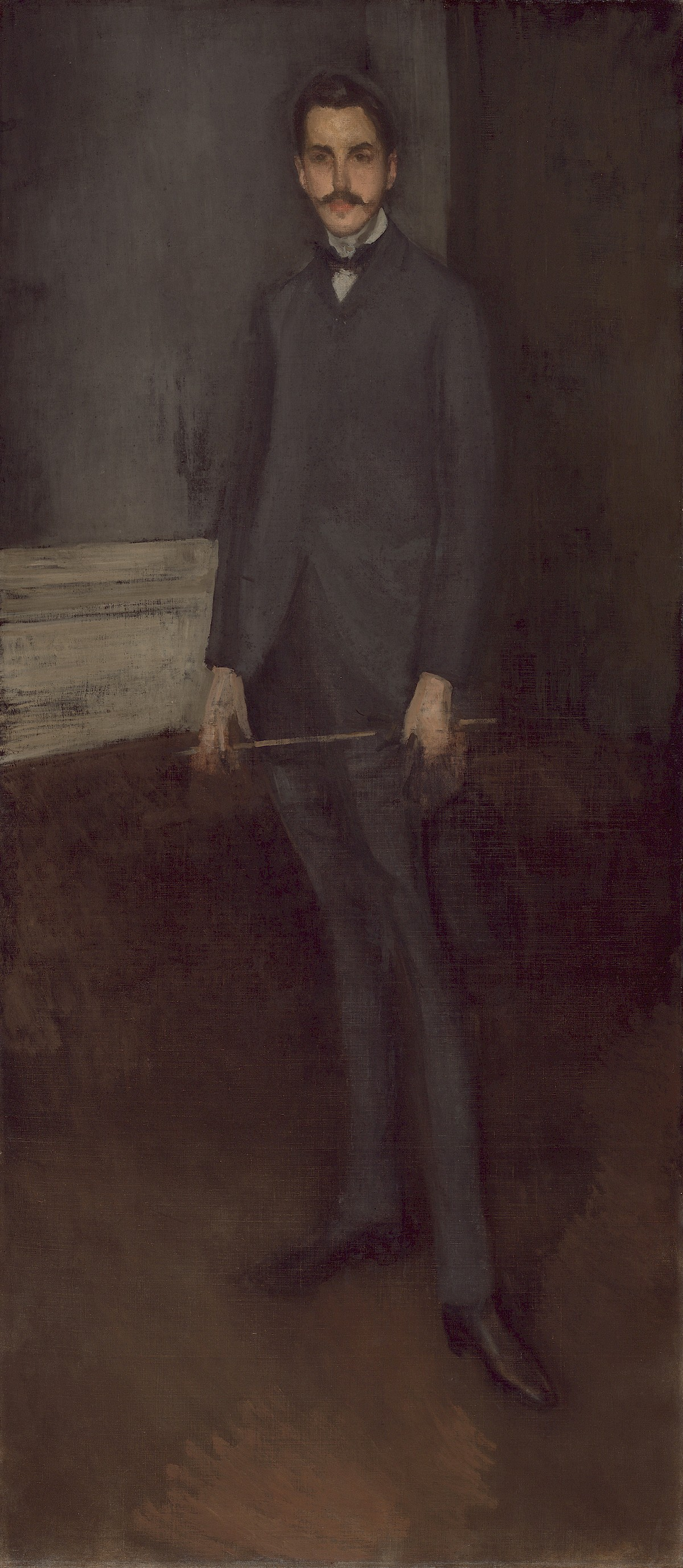 Mother Of Pearl >> Portrait of George W. Vanderbilt by James McNeill Whistler