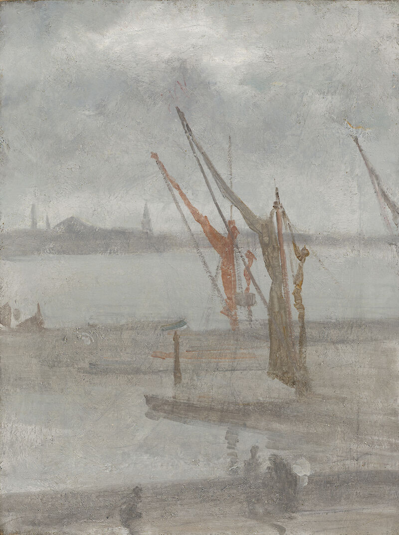 Grey and Silver: Chelsea Wharf, 1868, James McNeill Whistler