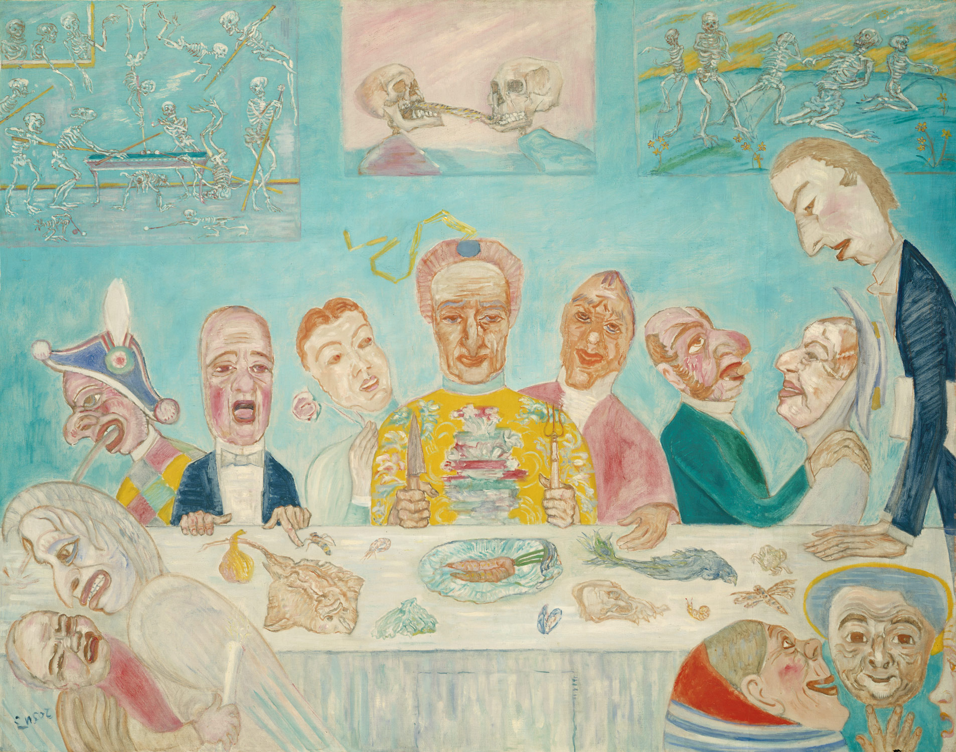 Comical Repast (Banquet of the Starved), 1918 — James Ensor,
