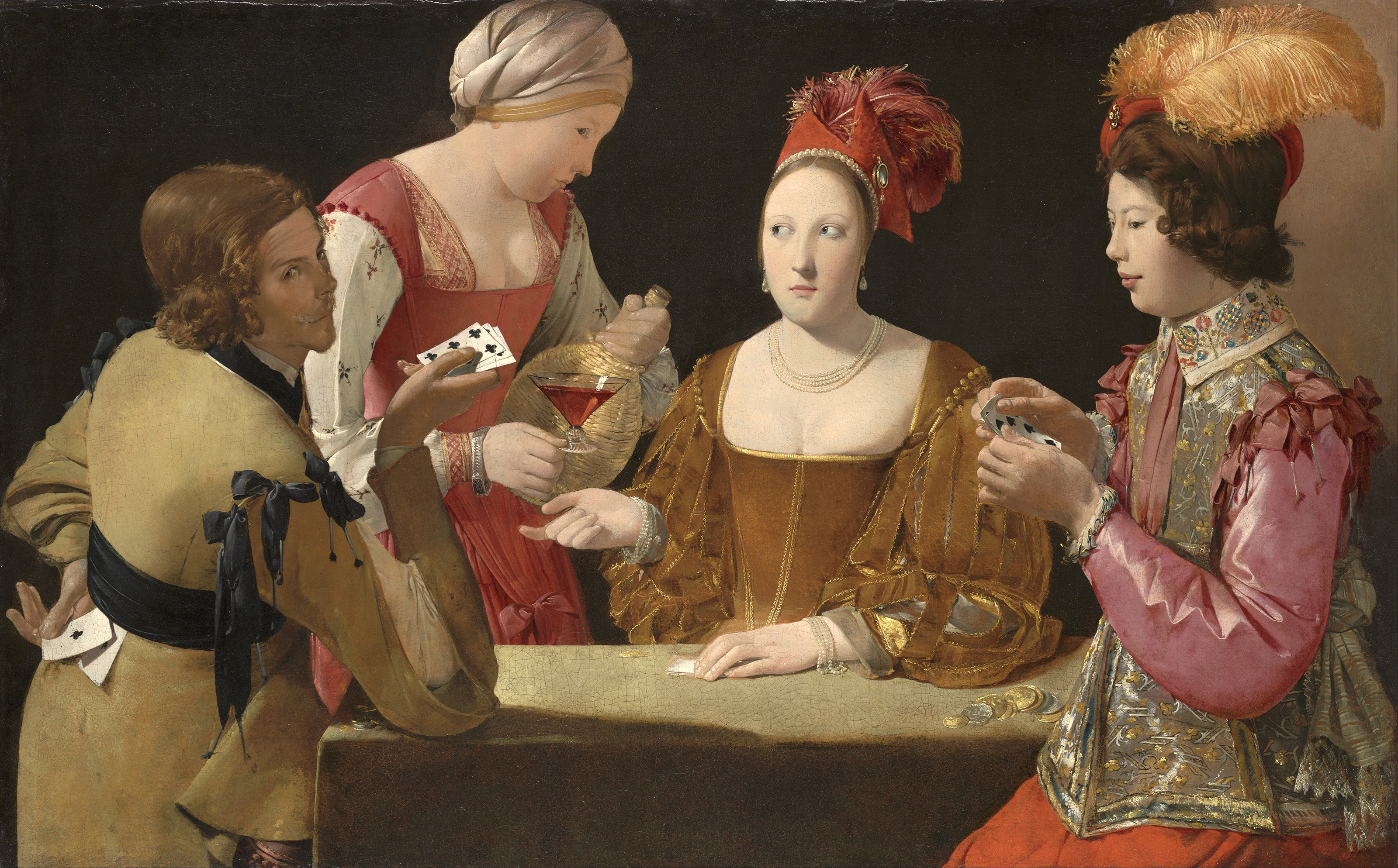 The Cheat with the Ace of Clubs, 1634 — Georges de La Tour