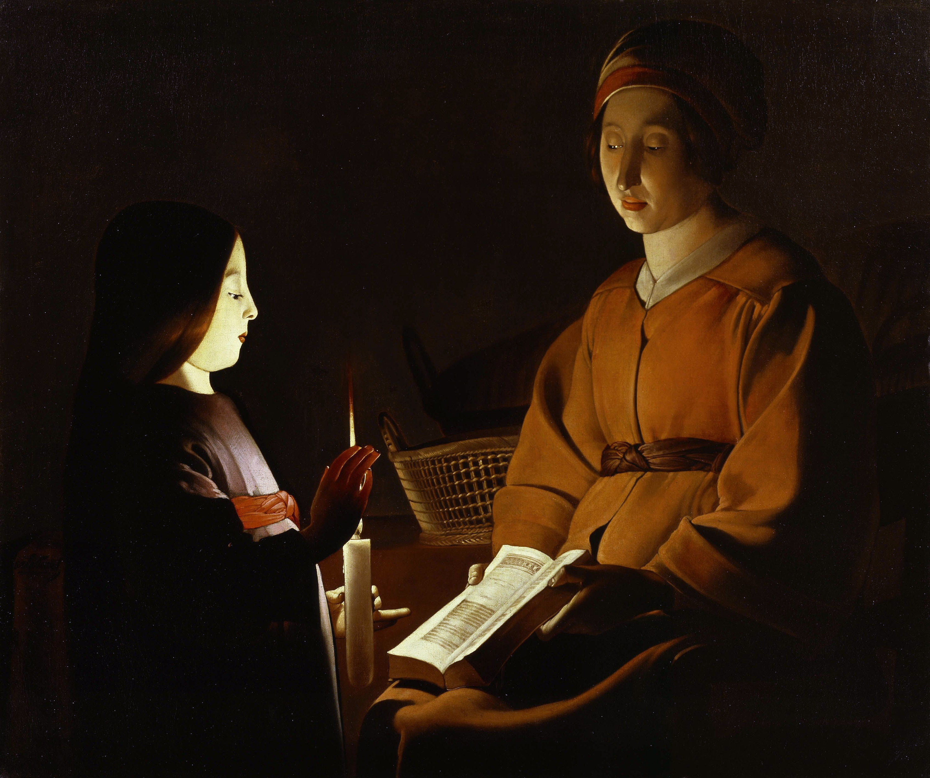 The Education of the Virgin, 1650 — Georges de La Tour