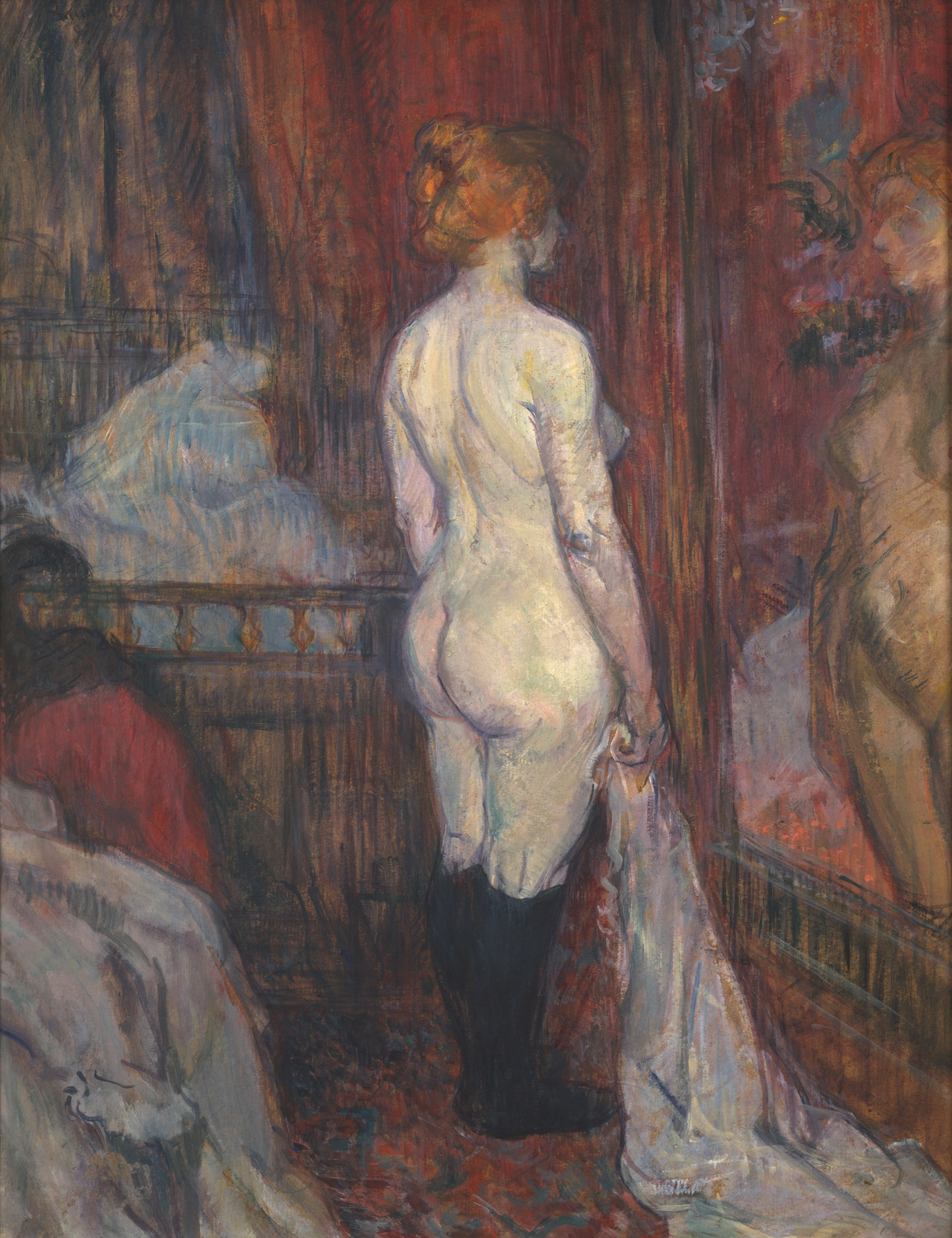 Woman before a Mirror, 1897 — Henri de Toulouse-Lautrec, Metropolitan Museum of Art