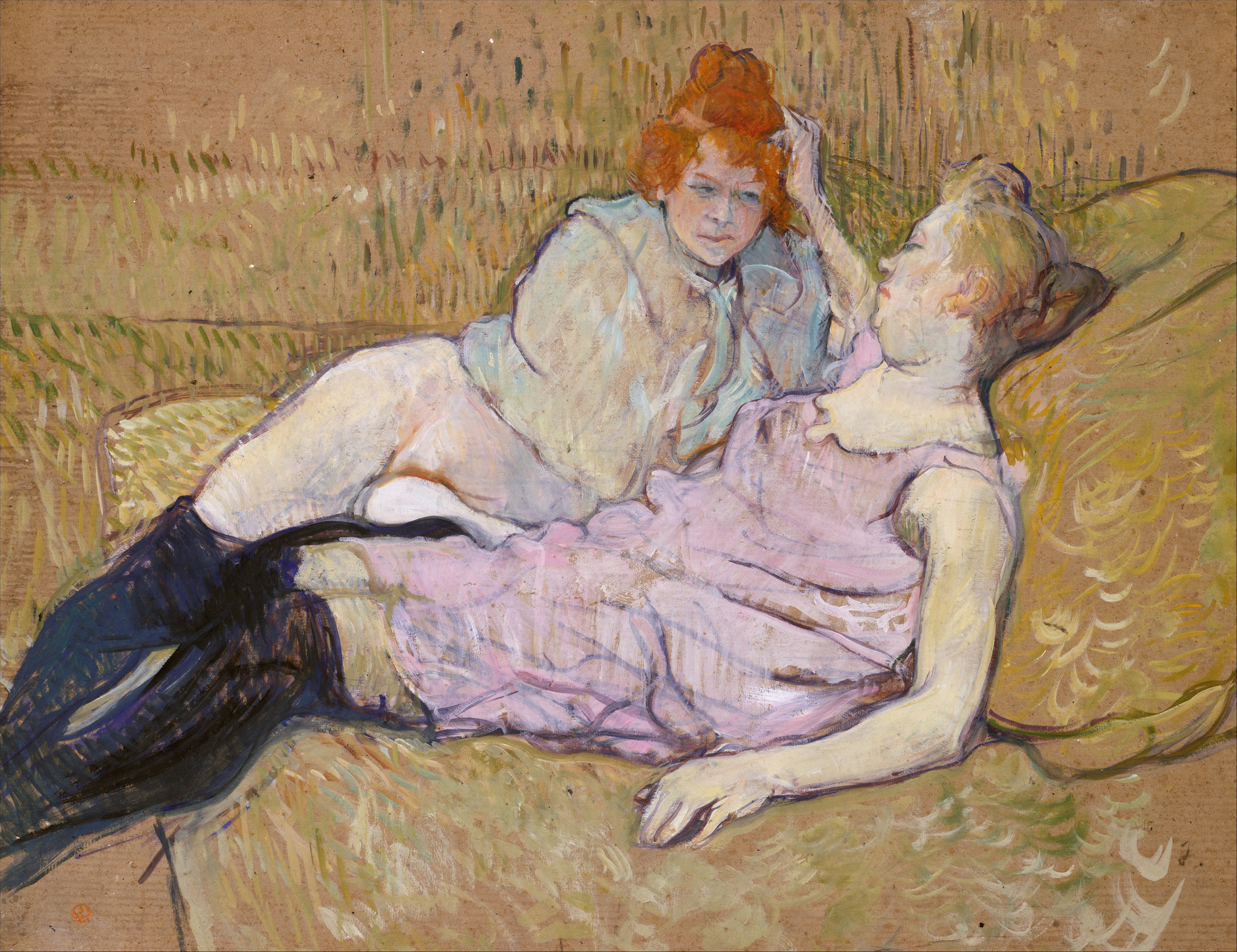 The Sofa, 1896 — Henri de Toulouse-Lautrec, Metropolitan Museum of Art