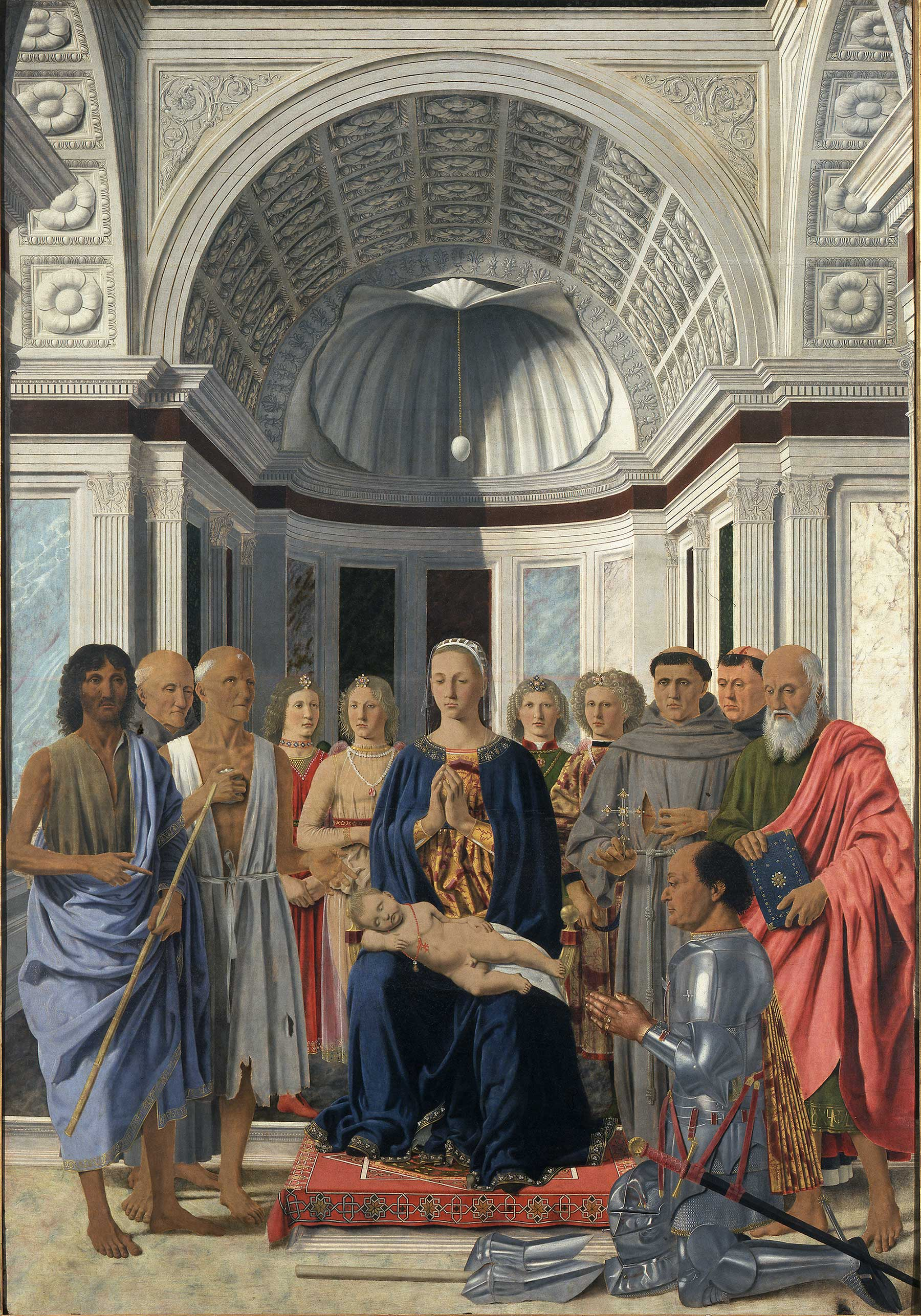The Virgin with Child, Angels and Saints, 1474 — Piero della Francesca