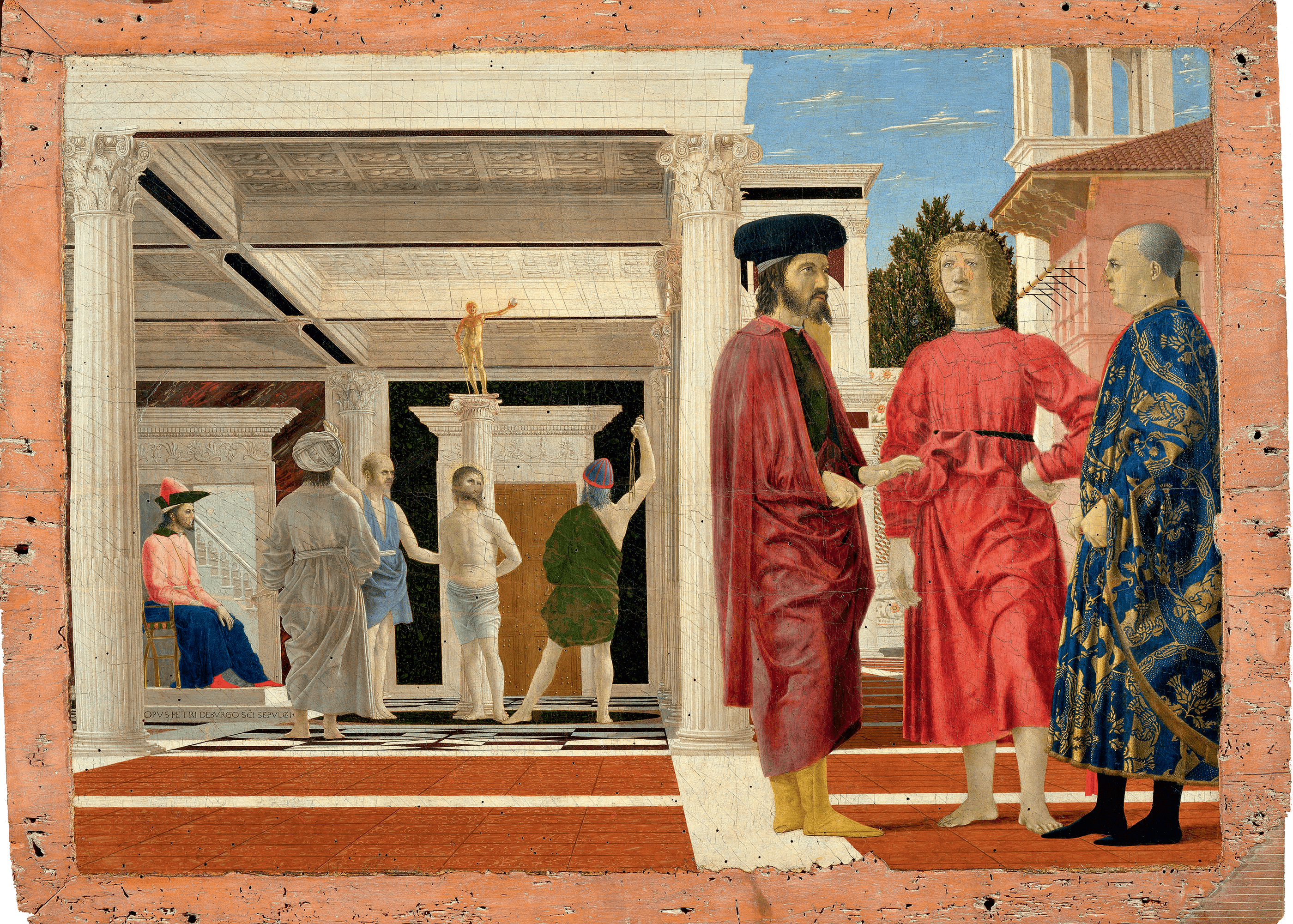 Flagellation of Christ, 1460 — Piero della Francesca