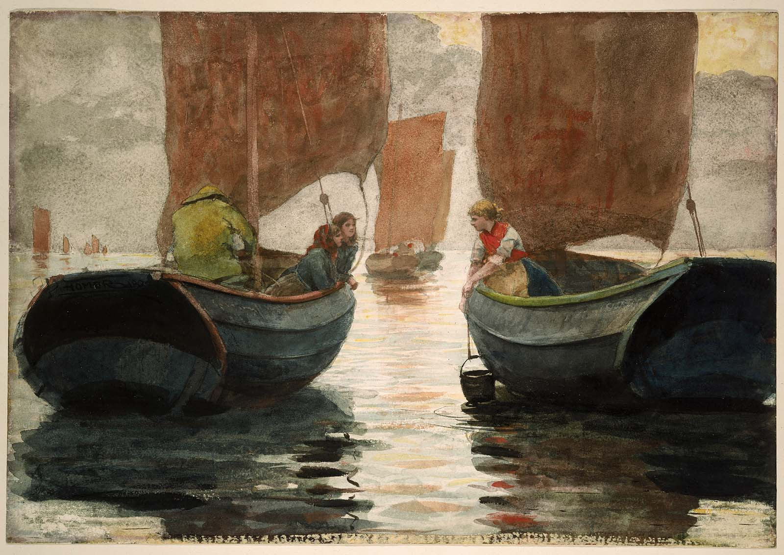 An Afterglow, 1883 — Winslow Homer, Museum of Fine Arts Boston