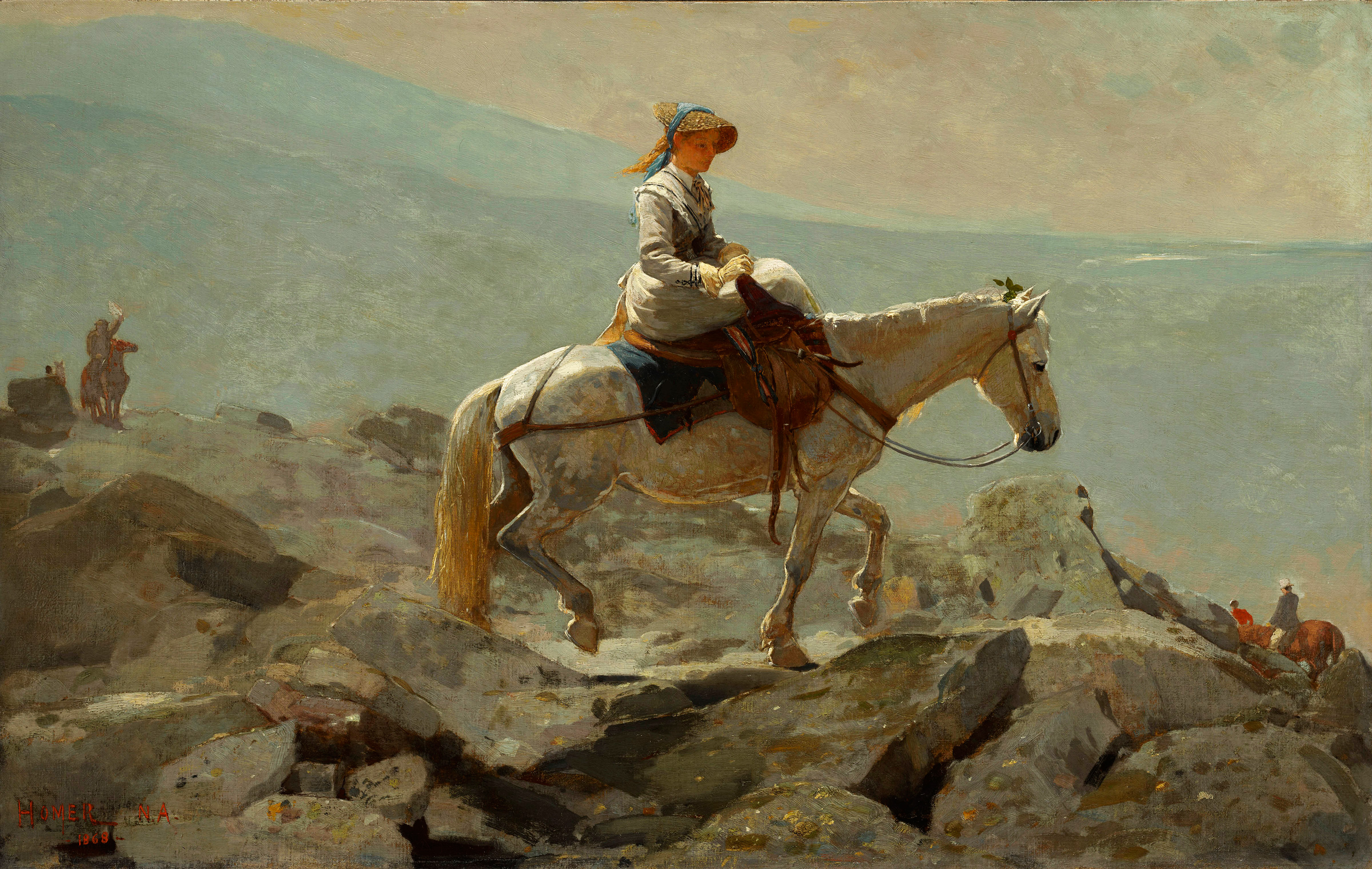The Bridle Path, White Mountains, 1868 — Winslow Homer,
