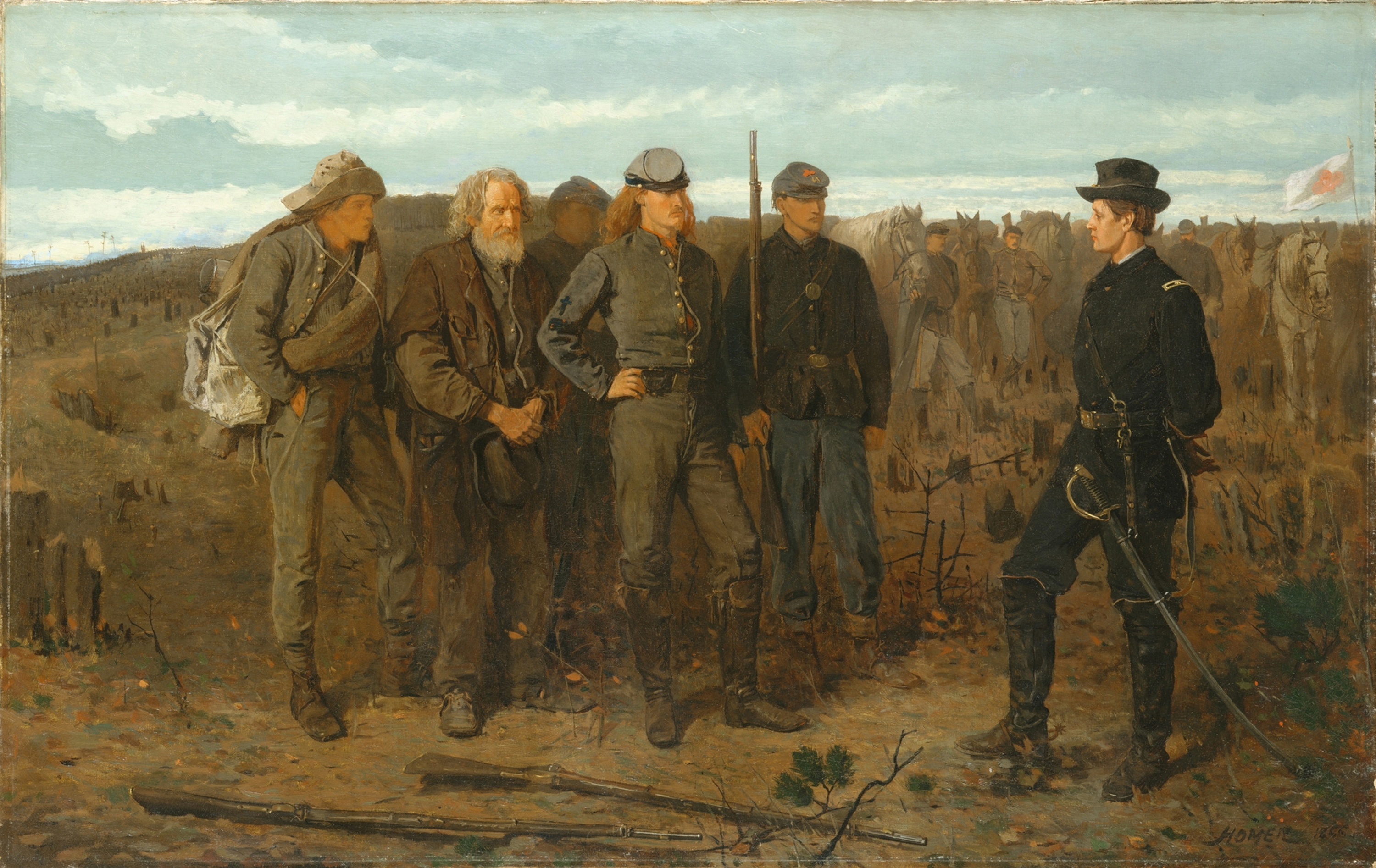 Prisoners from the Front, 1866 — Winslow Homer, Metropolitan Museum of Art