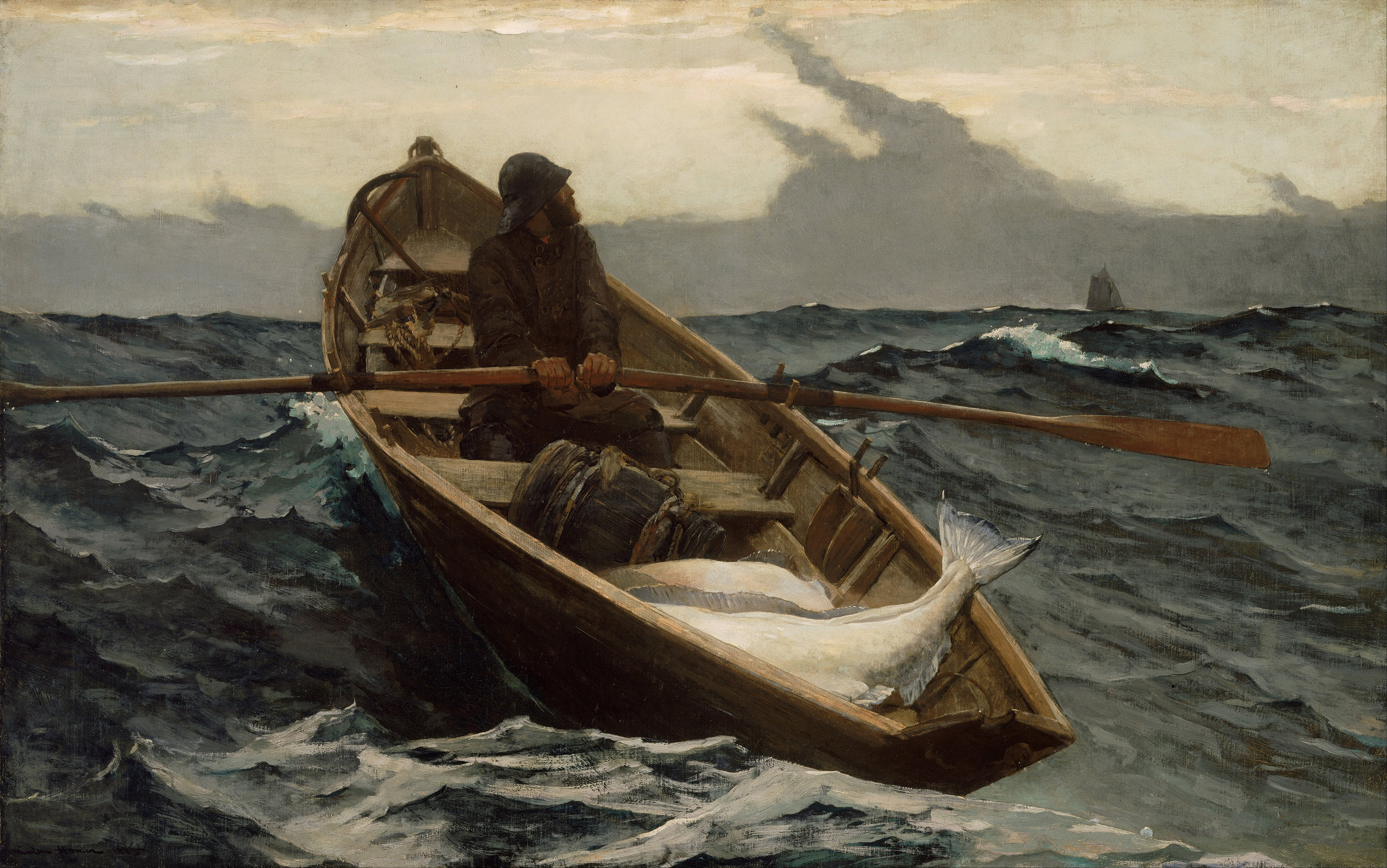 The Fog Warning, 1885 — Winslow Homer,