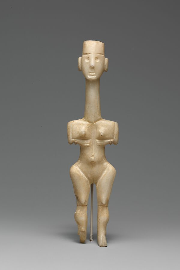 Early Cycladic female figure