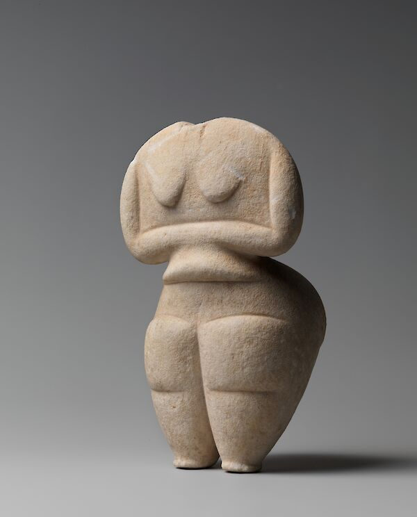 Neolithic marble female figure
