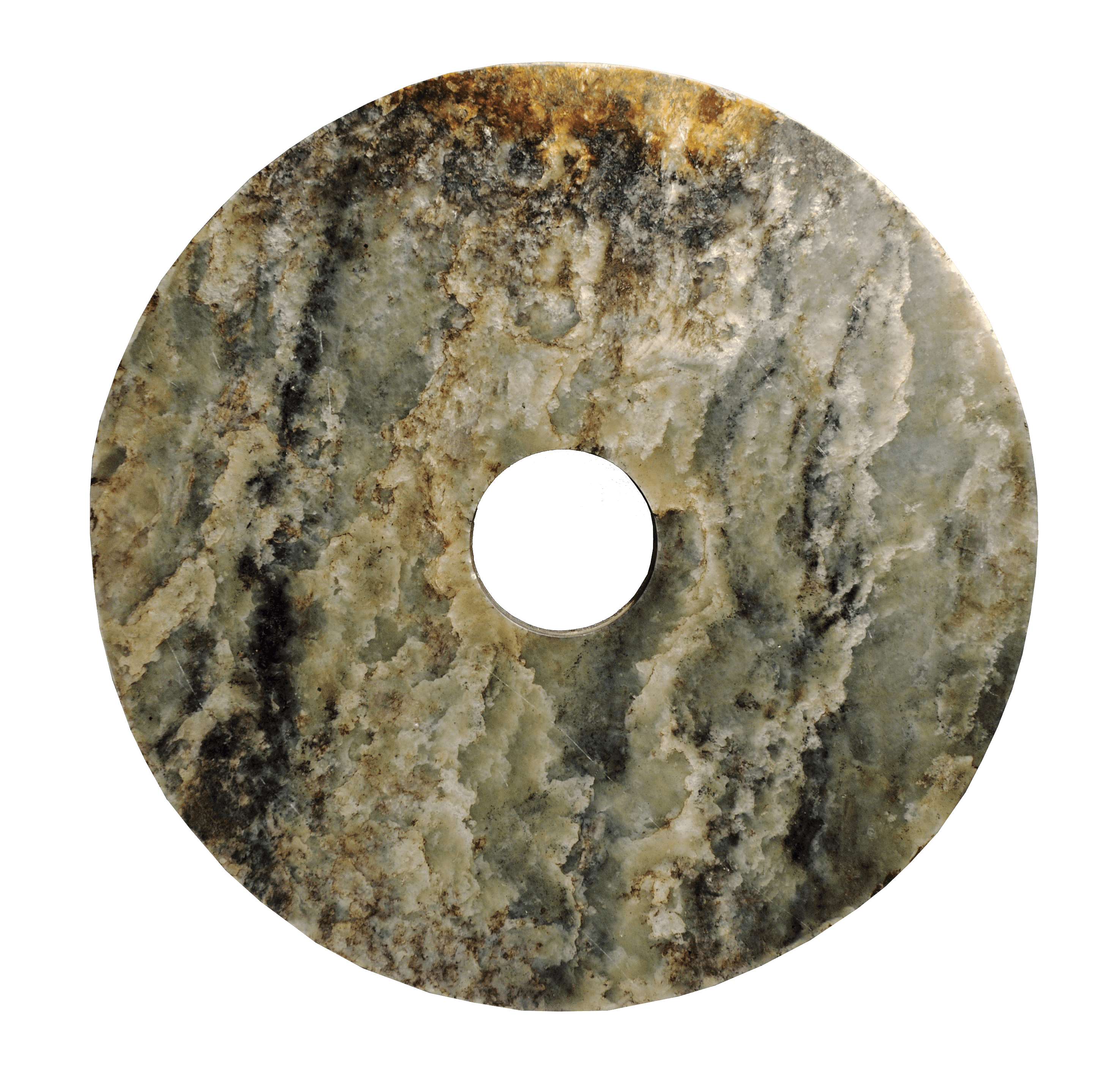 Liangzhu Neolithic Bi Disk, 2200 BCE — Prehistory, Private Collection