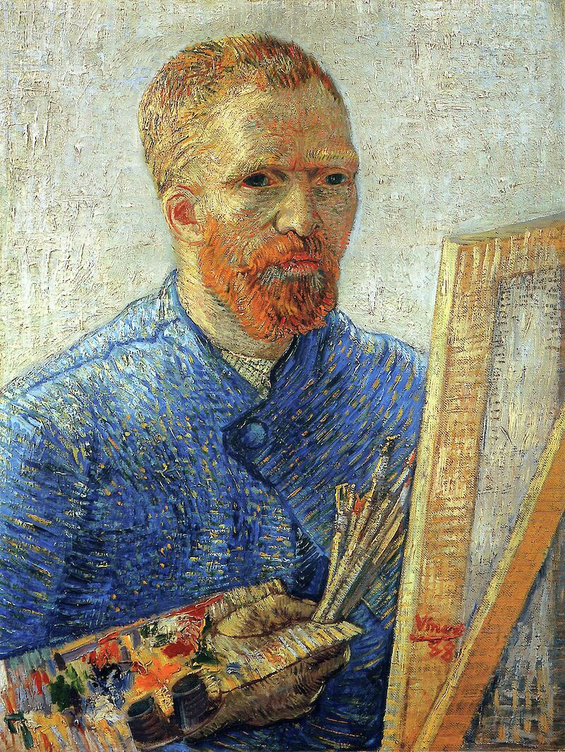 Self-portrait as an Artist, 1888, Vincent Van Gogh