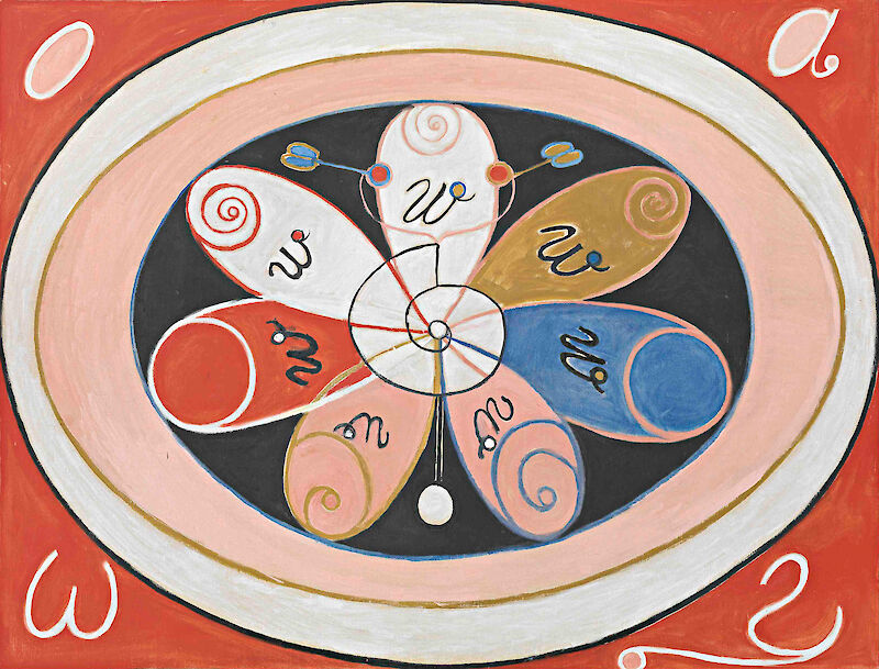 Evolution, No. 15, Group IV, The Seven-pointed Stars, 1908, Hilma af Klint