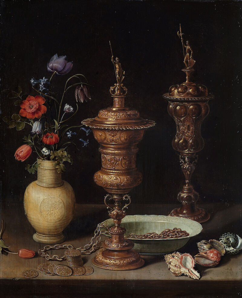 Still Life with Flowers and Gold Cups of Honour