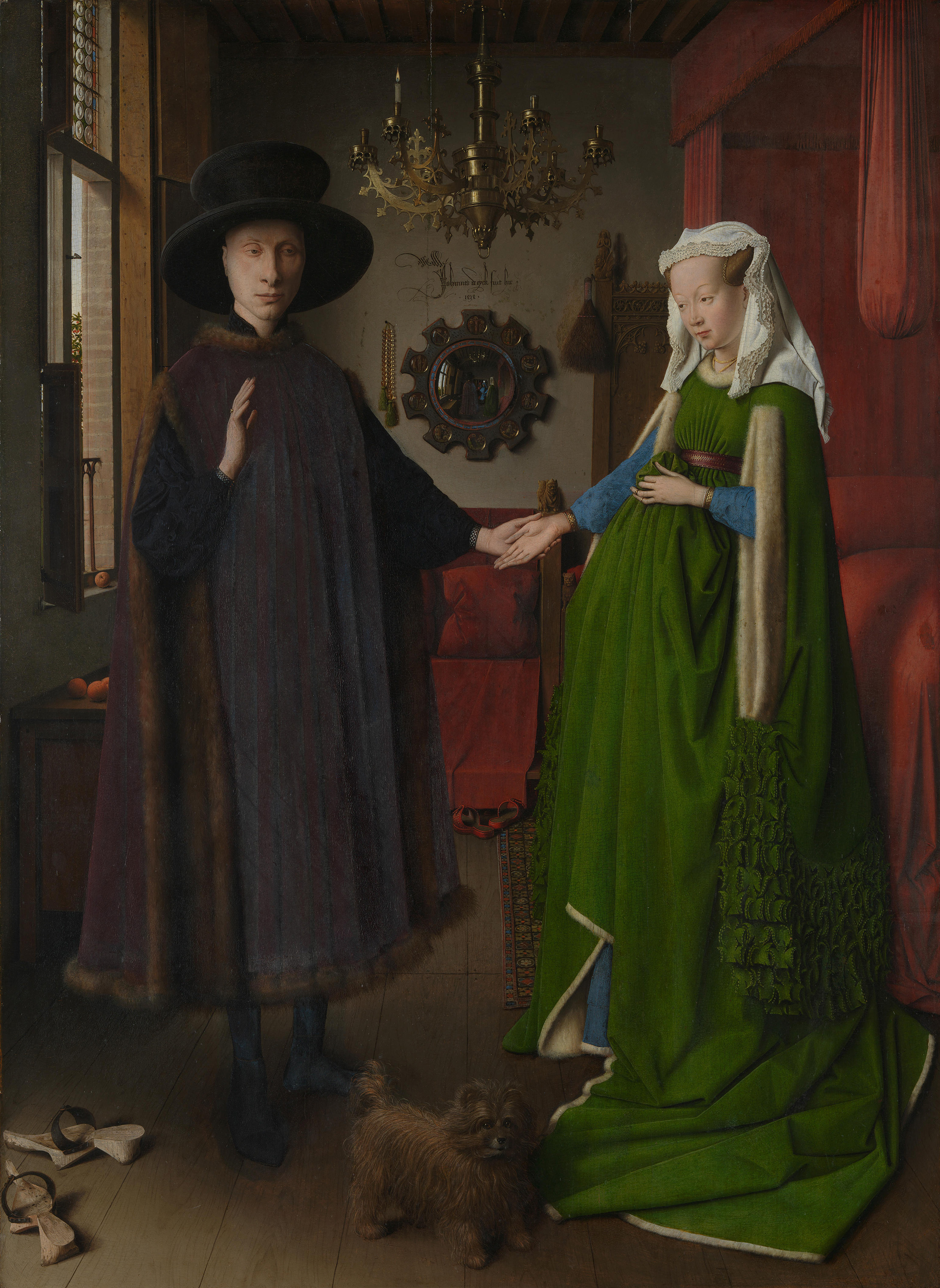 Arnolfini Portrait, 1434 — Jan Van Eyck, National Gallery London