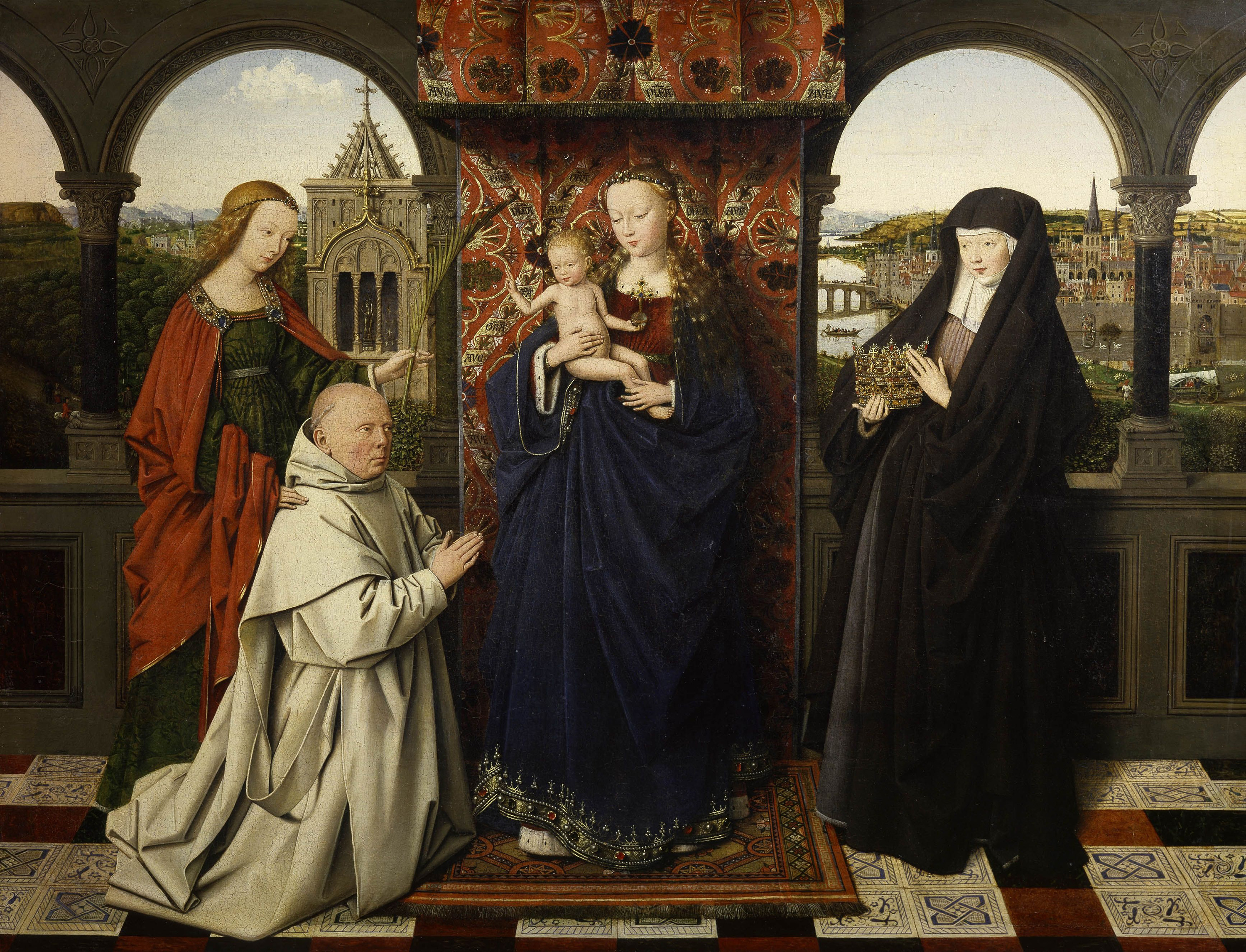 Virgin and Child, with Saints and Donor, 1443 — Jan Van Eyck, The Frick Collection