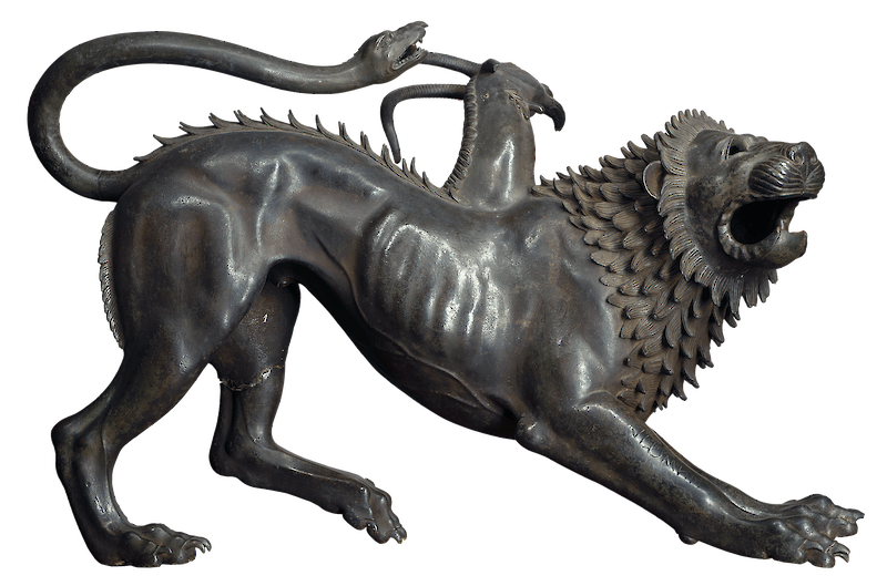 Chimera of Arezzo, 400 BCE, The Etruscans
