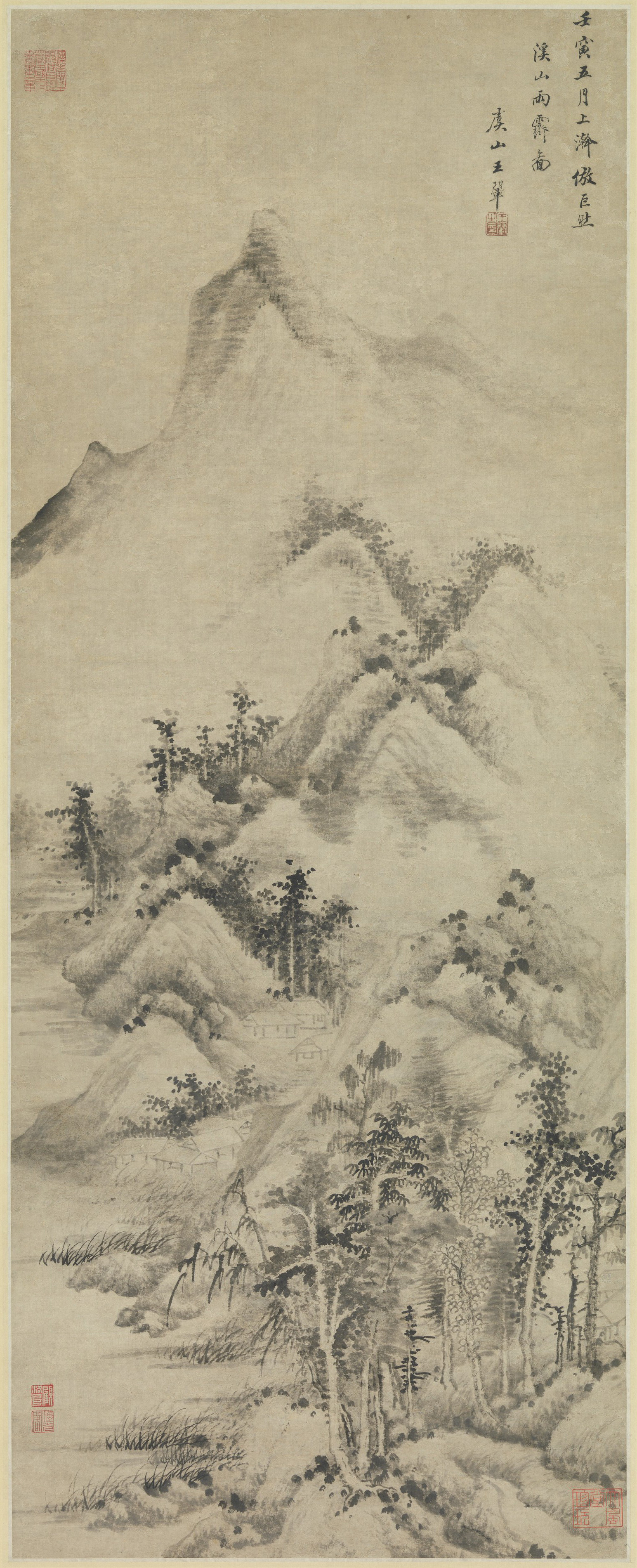 Clearing after Rain over Streams and Mountains, 1662 — Wang Hui 王 ...