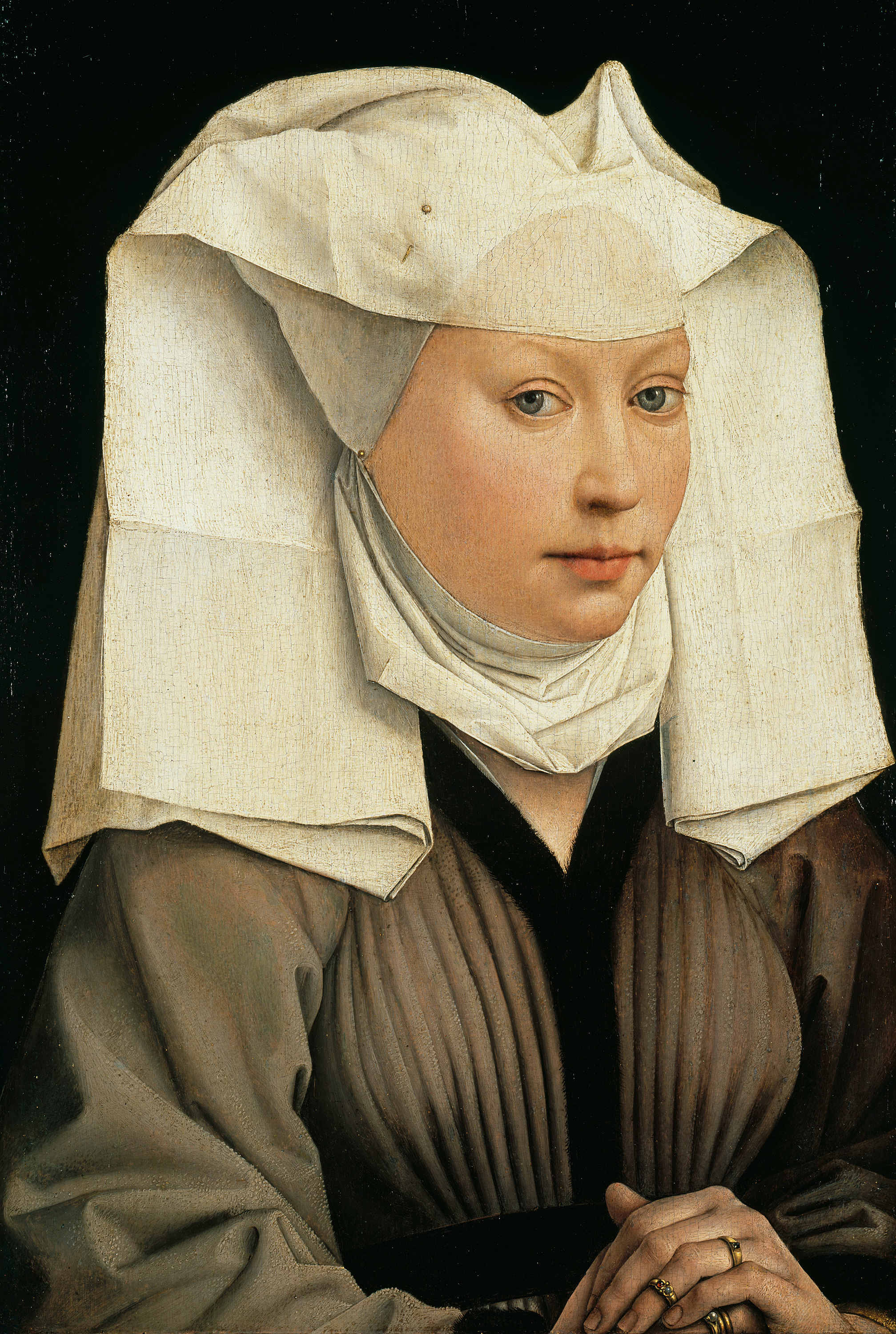 Woman with a Winged Bonnet, 1440 — Rogier van der Weyden