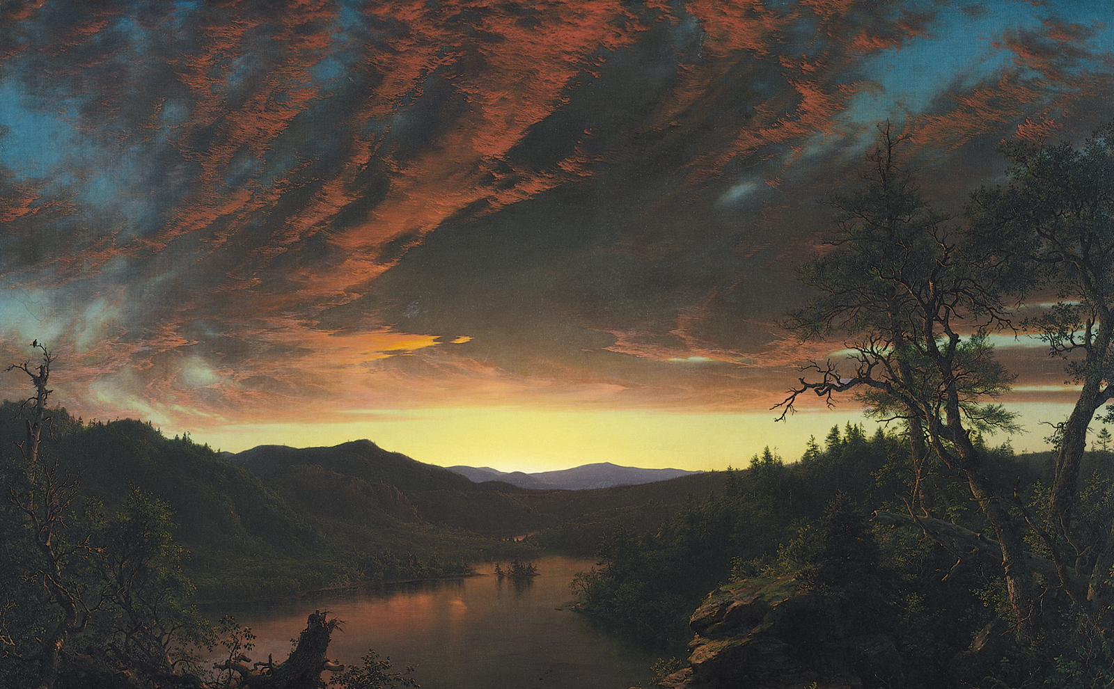 Twilight in the Wilderness, 1860 — Frederic Edwin Church,