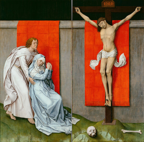 The Crucifixion, with the Virgin and Saint John the Evangelist Mourning