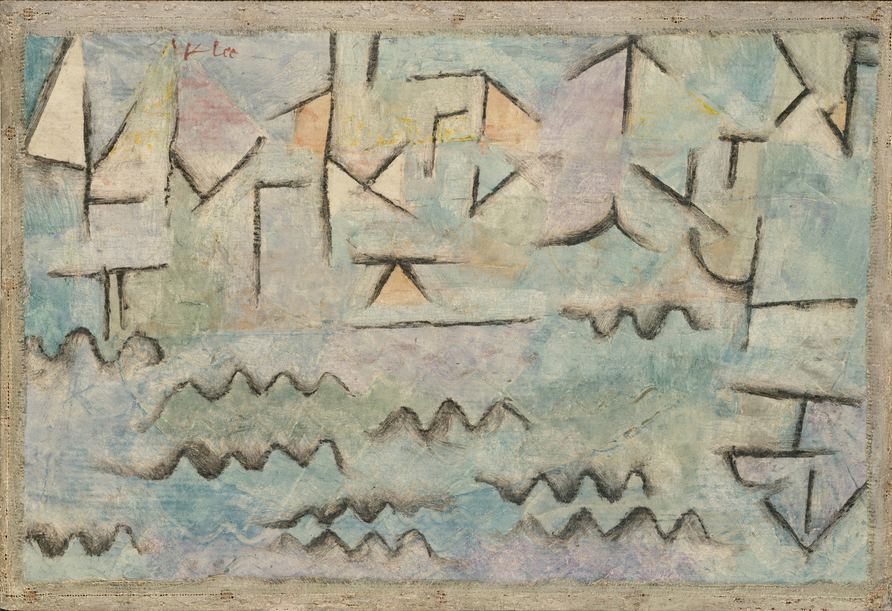 The Rhine at Duisburg, 1937 — Paul Klee